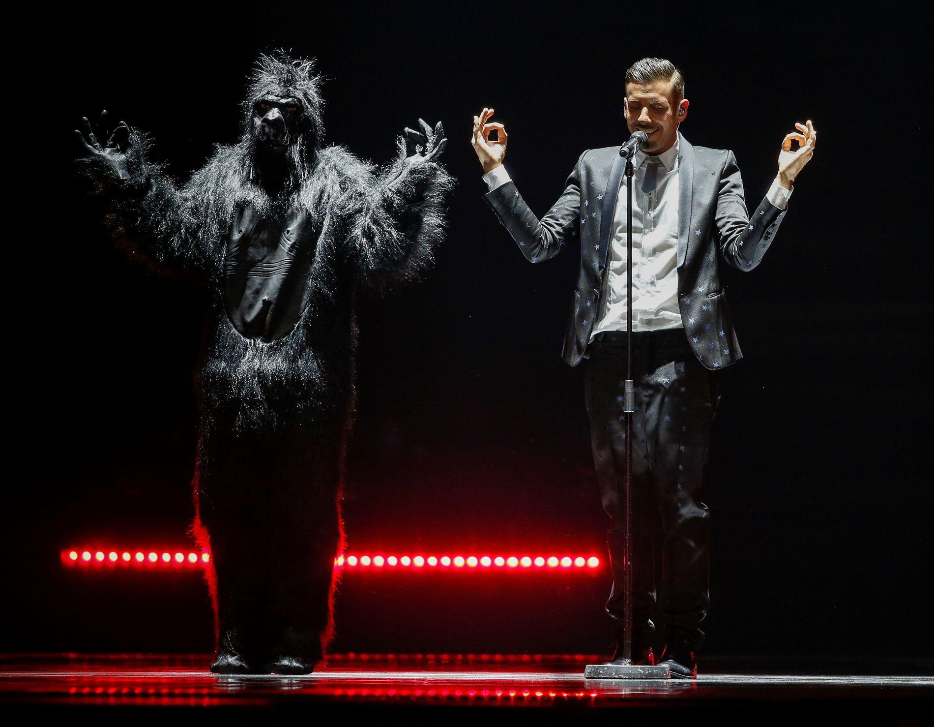 EUROVISION: Denne italieneren ligger ifølge bookmakerne best an til å vinne årets Eurovision. Om det stemmer, vil vi finne ut på lørdag.