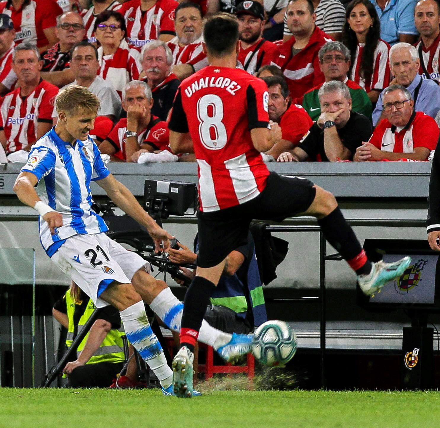 Martin Ødegaard og Real Sociedad tapte baskerderbyet fredag kveld.