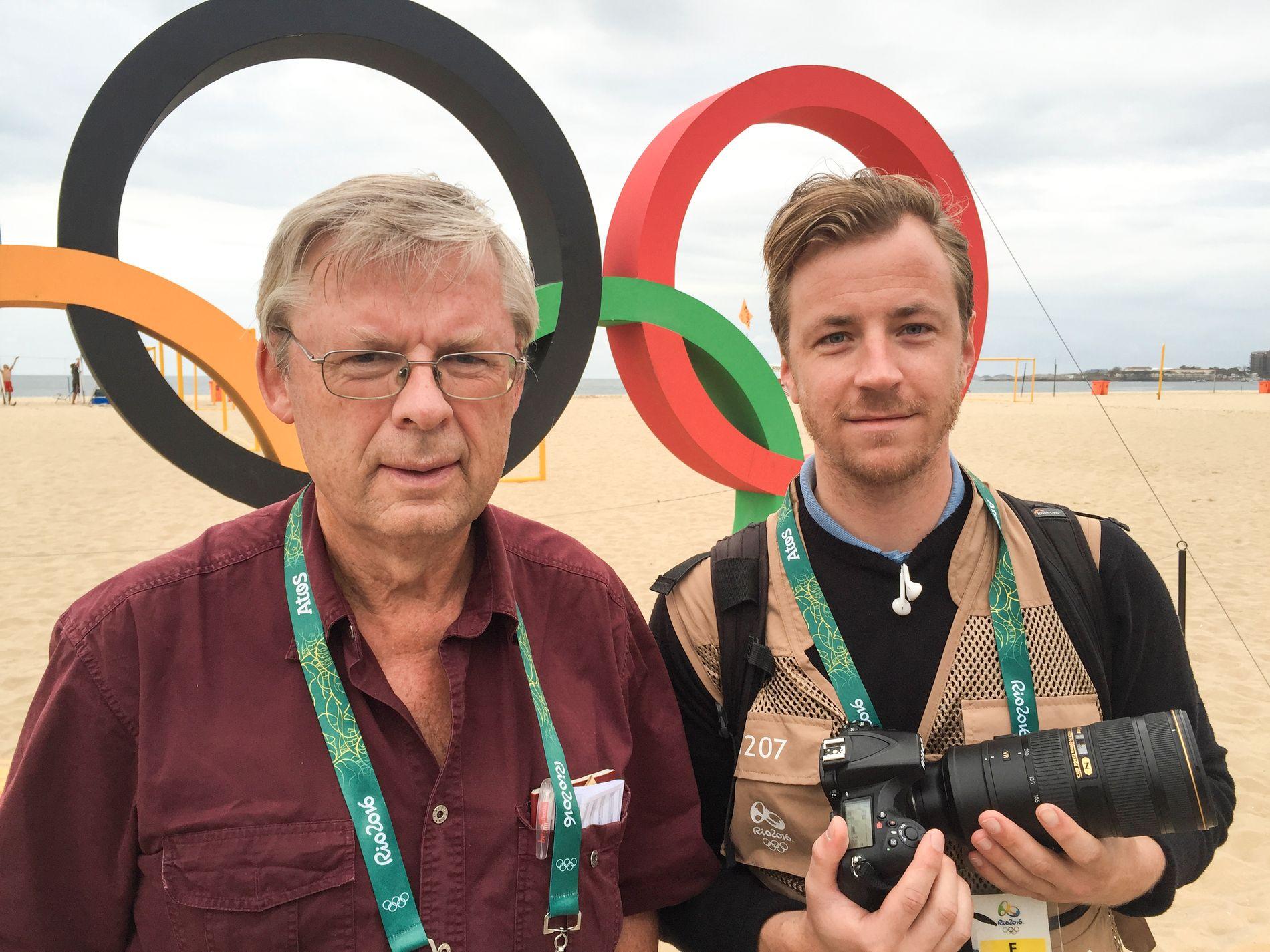 I RIO: Arne Hole og Martin Slottemo Lyngstad (foto).