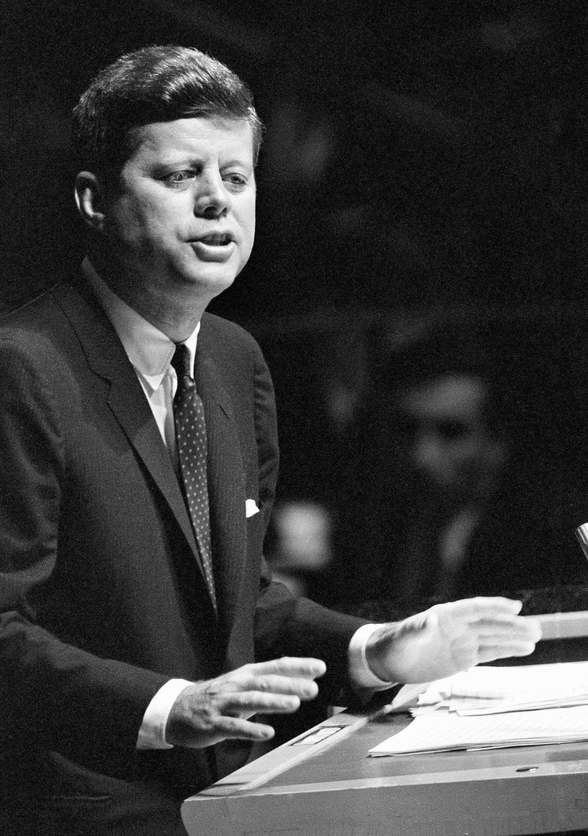 KATOLIKK: John F. Kennedy fikk en ekstra motbakke som presidentkandidat fordi han var katolikk.