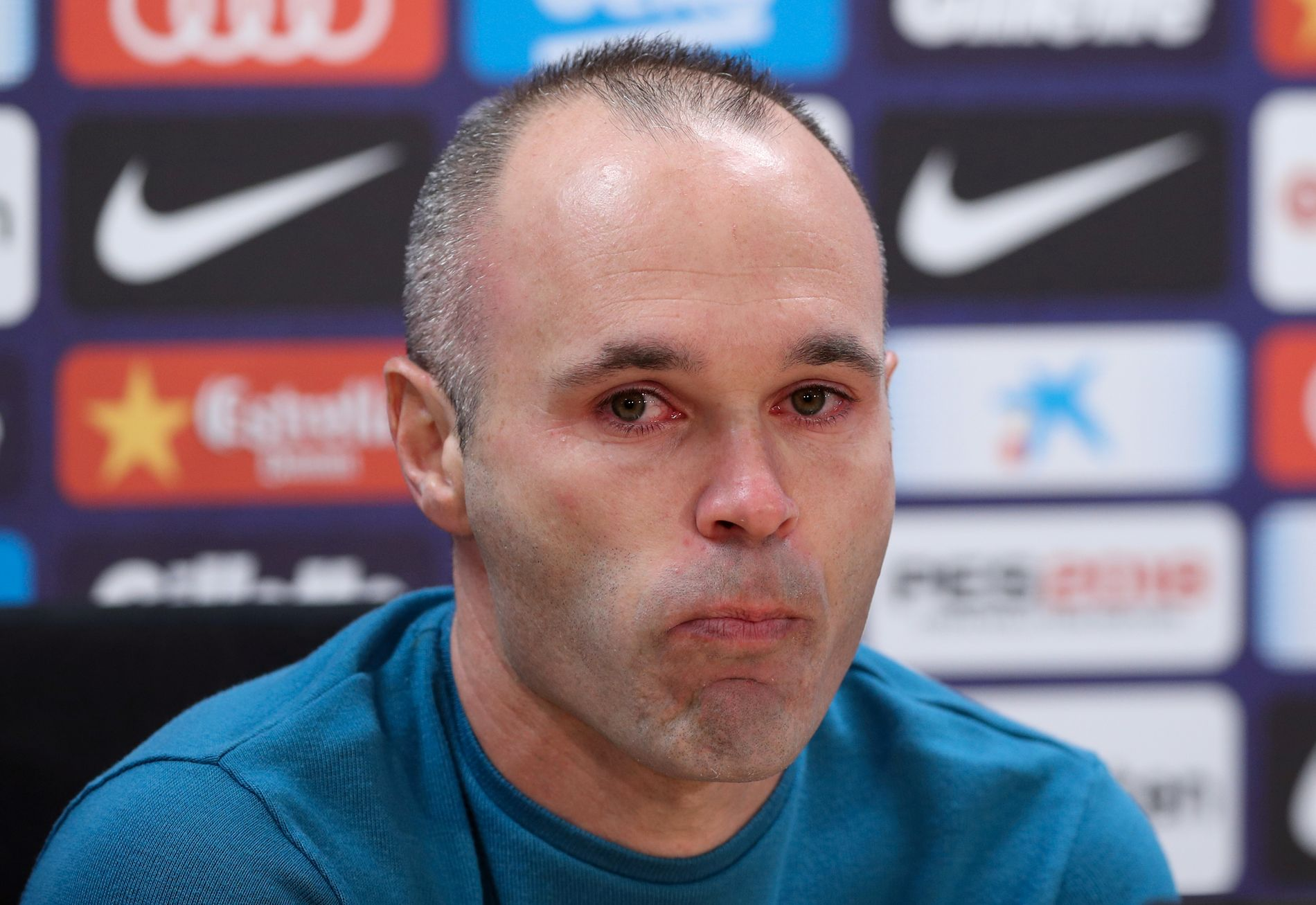 Det var en rørt Andrés Iniesta som annonserte Barcelona-exiten i forrige uke.