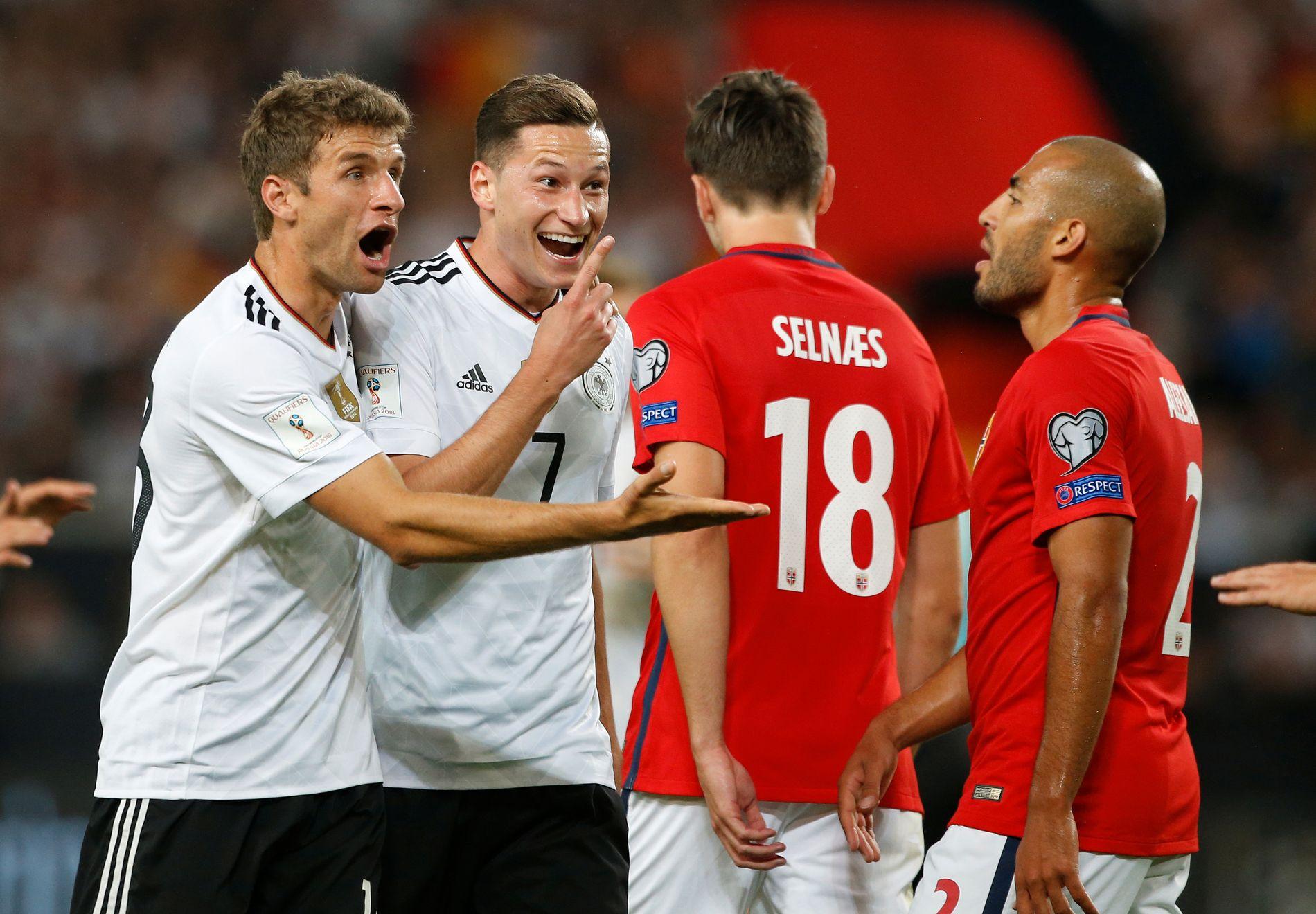 De tyske spillerne hadde all grunn til å smile, mens et norske laget ble fullstendig ydmyket.