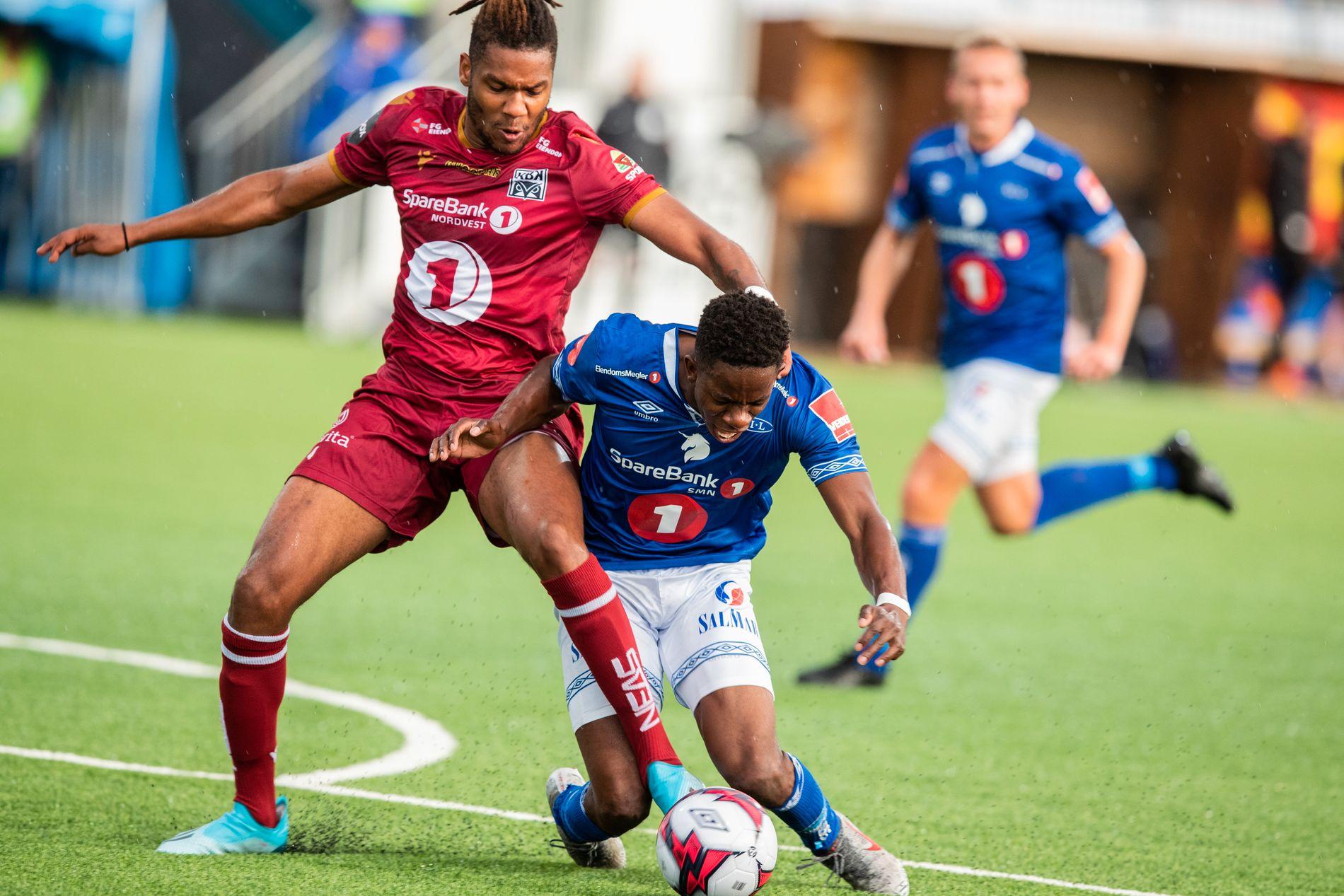 Surt hjemmetap: Mushaga Bakenga og Ranheim måtte se seg slått hjemme mot Kristiansund.