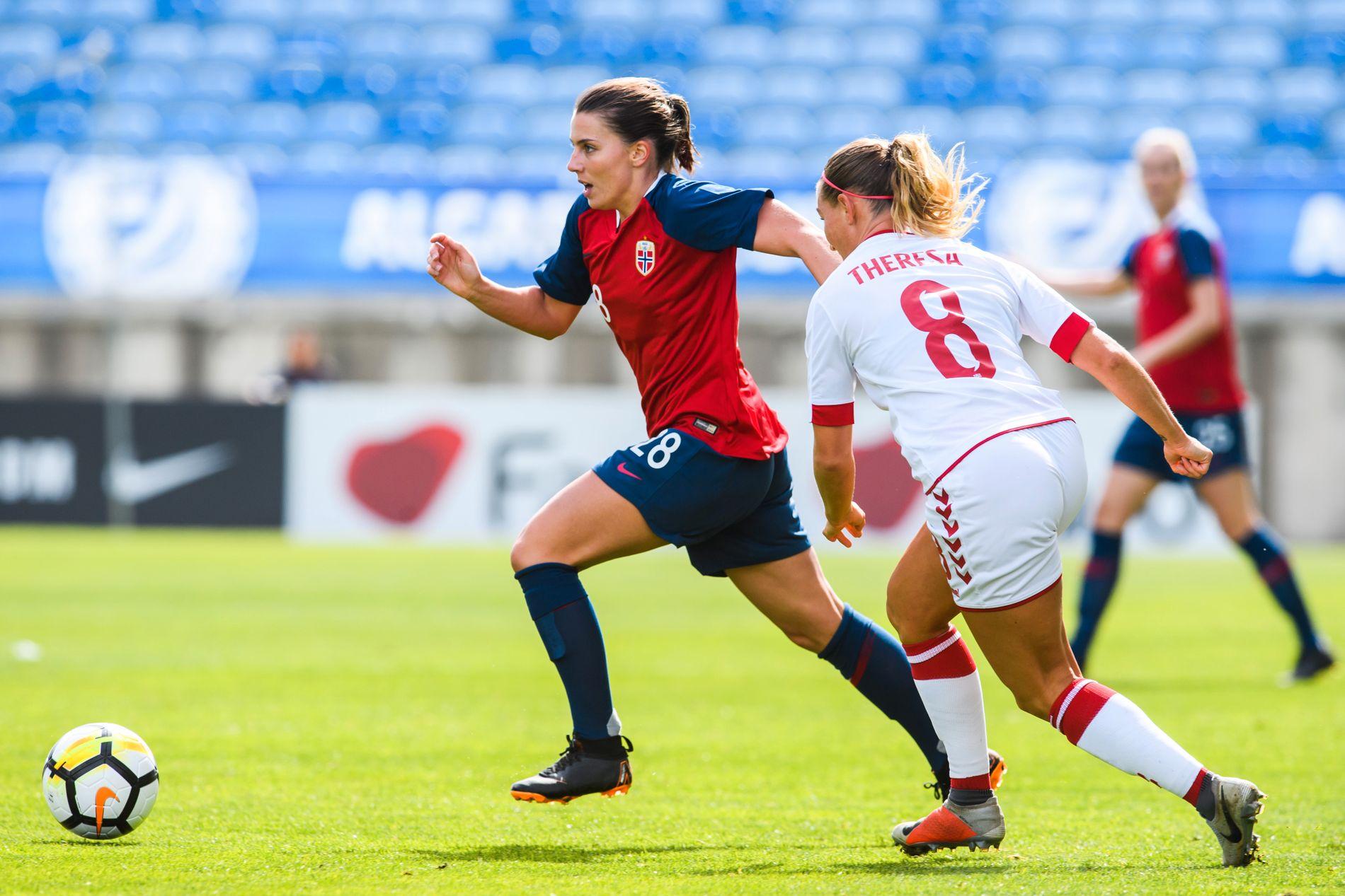 TIL FRANKRIKE: Cecilie Kvamme fra Sandviken er én av fem lokale spillere som skal til VM i Frankrike.