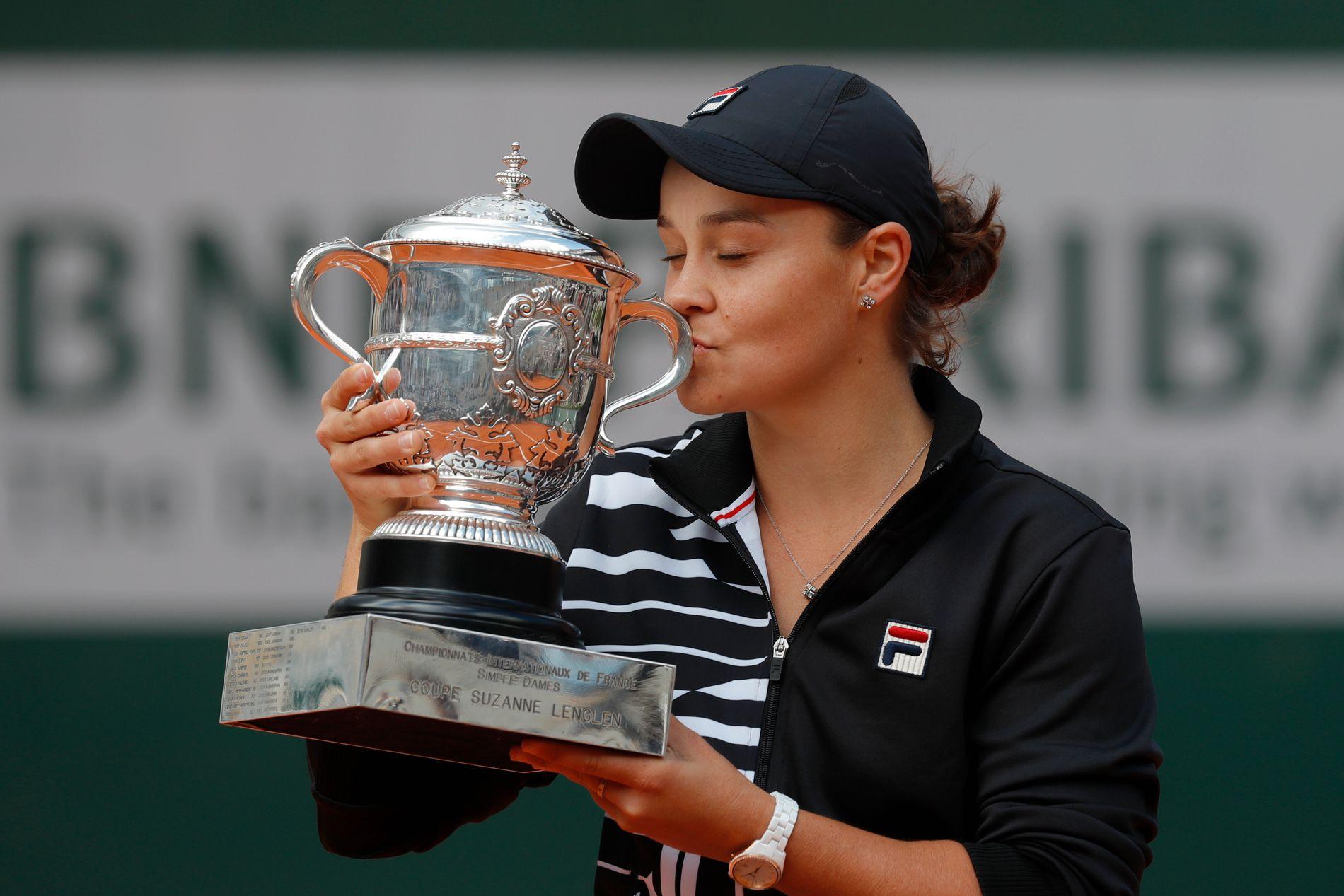 Ashleigh Barty vant sin første Grand Slam-tittel lørdag.