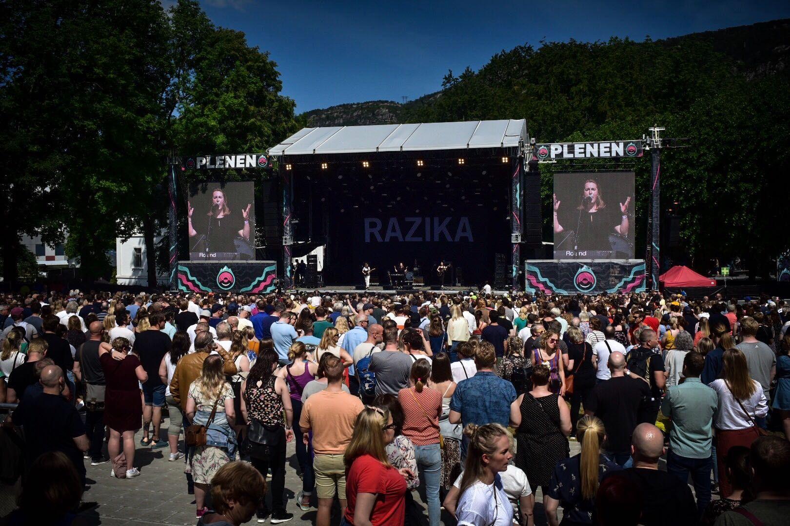 LØRDAGEN: Razika spillte sin siste konsert i Bergen noensinne. Robert Plant, Patti Smith og Hjerteslag var noen av de andre høydepunktene på siste festivaldag.