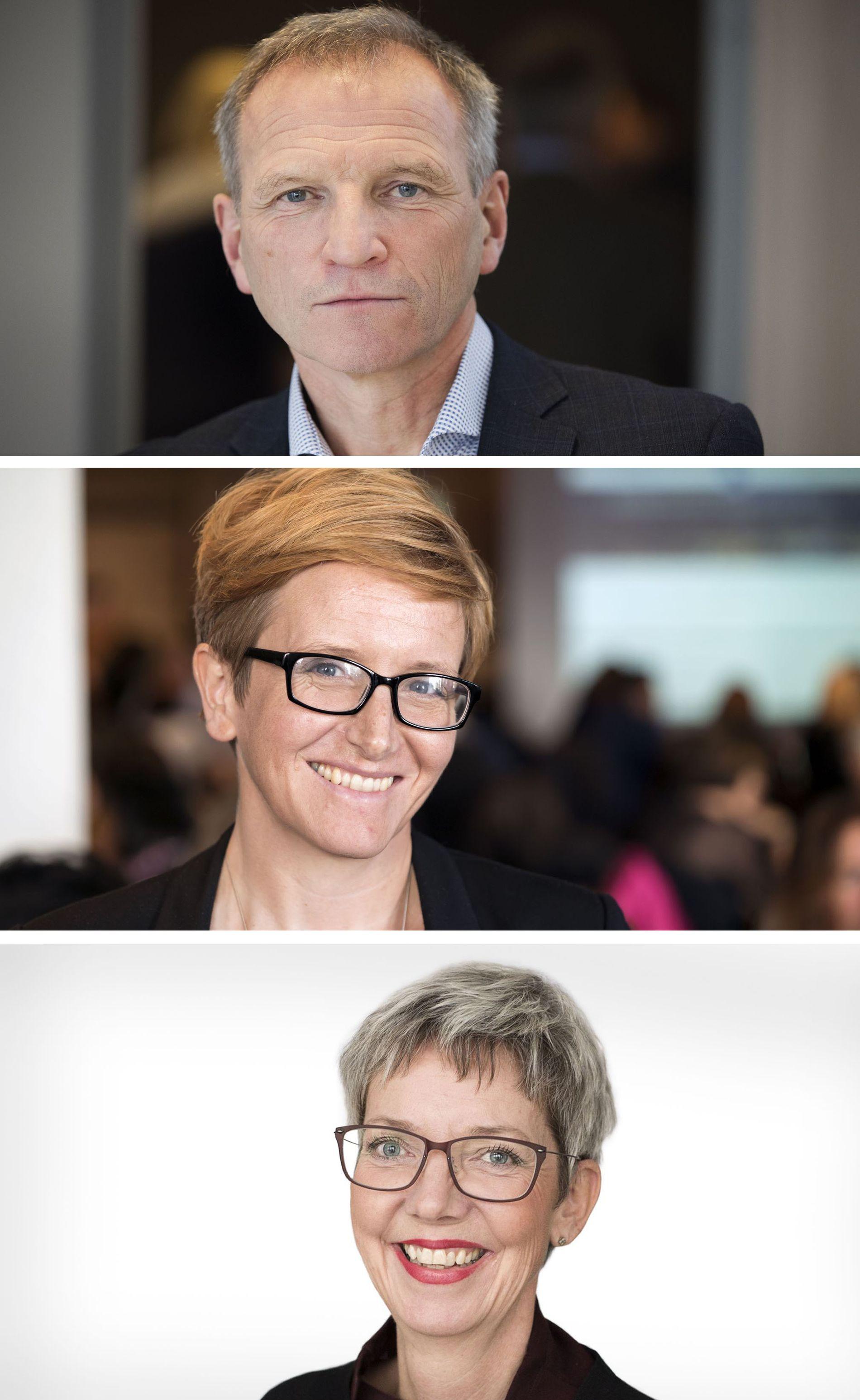 SVARER PÅ KRITIKK: Eivind Hansen, administrerende direktør i Helse Bergen; Randi-Luise Møgster, viseadministrerende direktør; Clara Gjesdal, viseadministrerende direktør