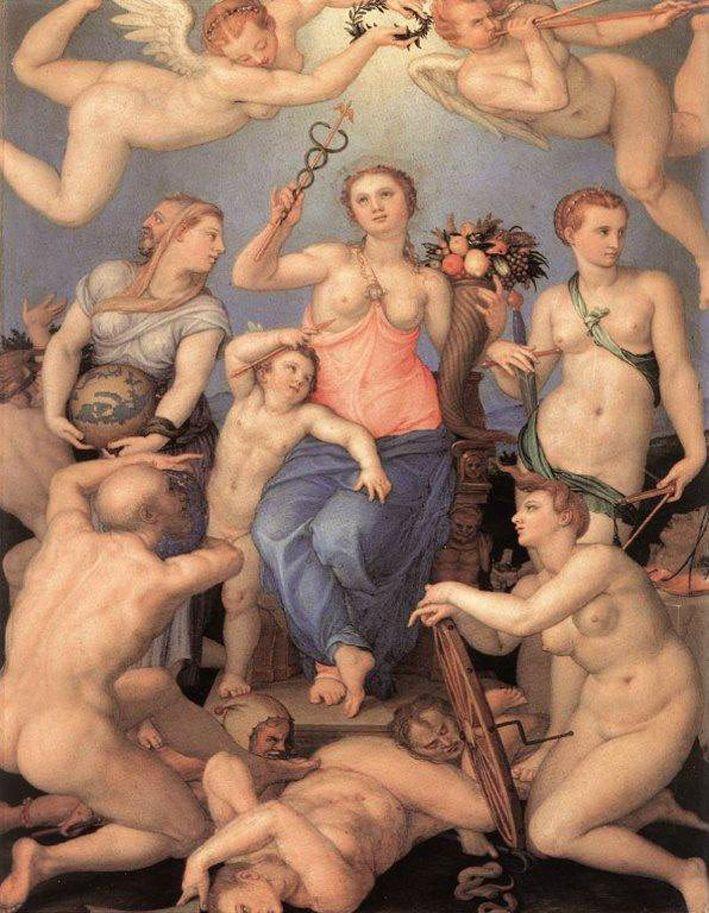 FRU FORTUNA: Hun er lykkens og skjebnens gudinne, og har en trofast menighet som dyrker og tror på henne. Vi tipper, tar lodd, aksjespekulerer oss fra gård og grunn, gambler, lovpriser henne når vi vinner, tilgir henne når vi taper mens vi ruster oss til nye lodd og gevinster. ILLUSTRASJON: ANGELO BRONZINO (1564), WIKIMEDIA COMMONS