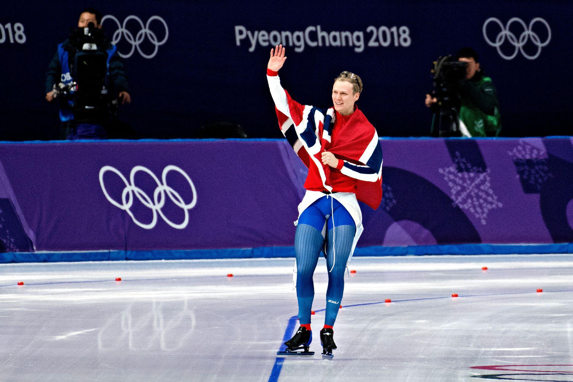 VINTERSPORTSNASJON: Håvard Holmefjord Lorentzen fra Bergen tok gull på 500 meter skøyter i årets OL i Pyeongchang. Som en av verdens ledende vintersportsnasjoner, er det ikke urimelig at Norge tar sin del av arrangørbyrden, men det er ingen grunn til å forhaste seg, skriver BT på lederplass.