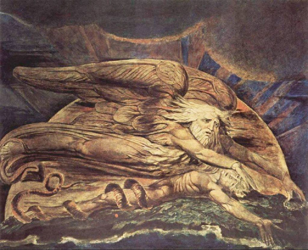 EVENTYR: Kristenfolket mangler gjennomslag i Norge fordi idéen om å bygge et samfunn på religiøse dogmer og to tusen år gamle folkeeventyr er havnet på historiens skraphaug. William Blake er mester for dette maleriet av skapelsen (1795). FOTO: Wikimedia commons