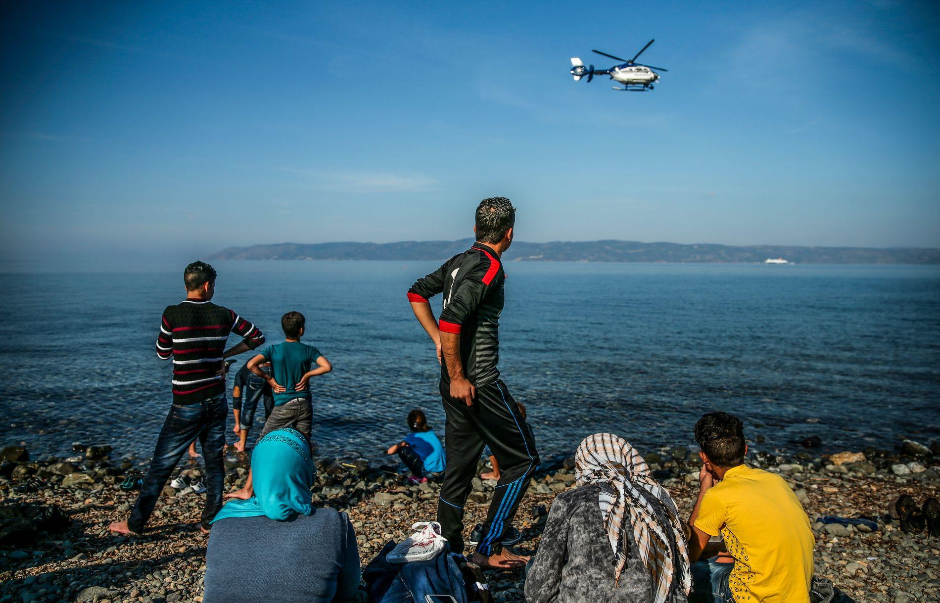 STØRRE FORSKJELLER: Migranter, som her på øyen Lesbos i Hellas, fører på kort sikt til økt ulikhet og høyere Gini-koeffisient i et land, skriver innsenderen.