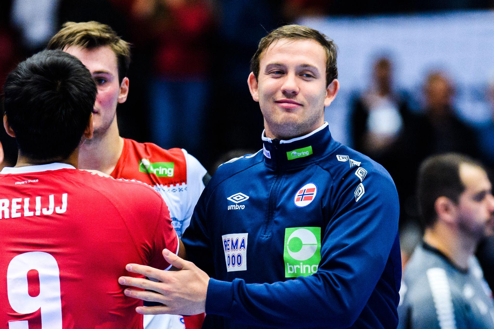 IKKE SKREMT: Sander Sagosen gleder seg til  å møte Danmark.