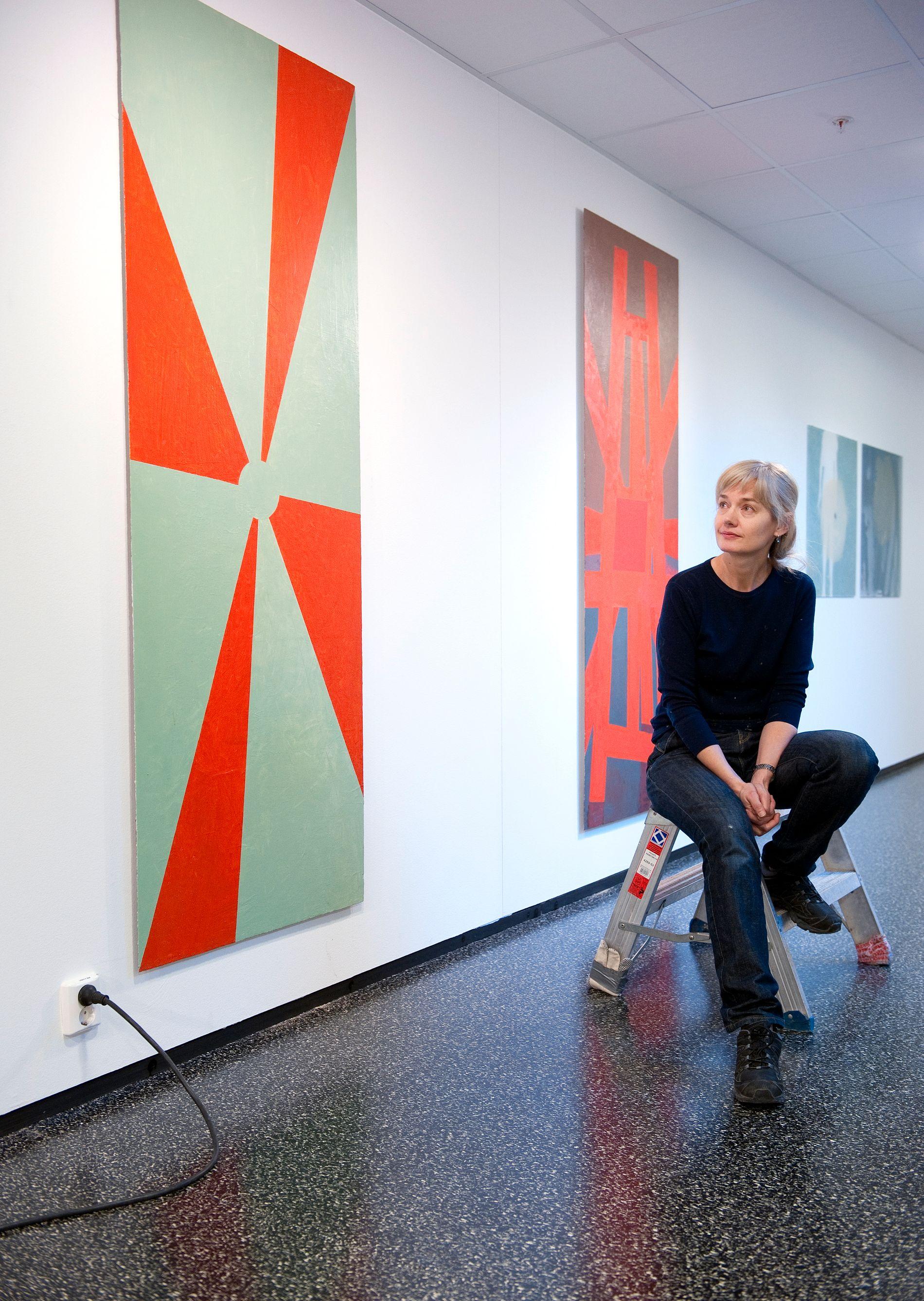 I SAMLINGEN: Kunstner Mari Slaattelid stilte ut på Voss kulturhus i 2011 (arkivfoto).