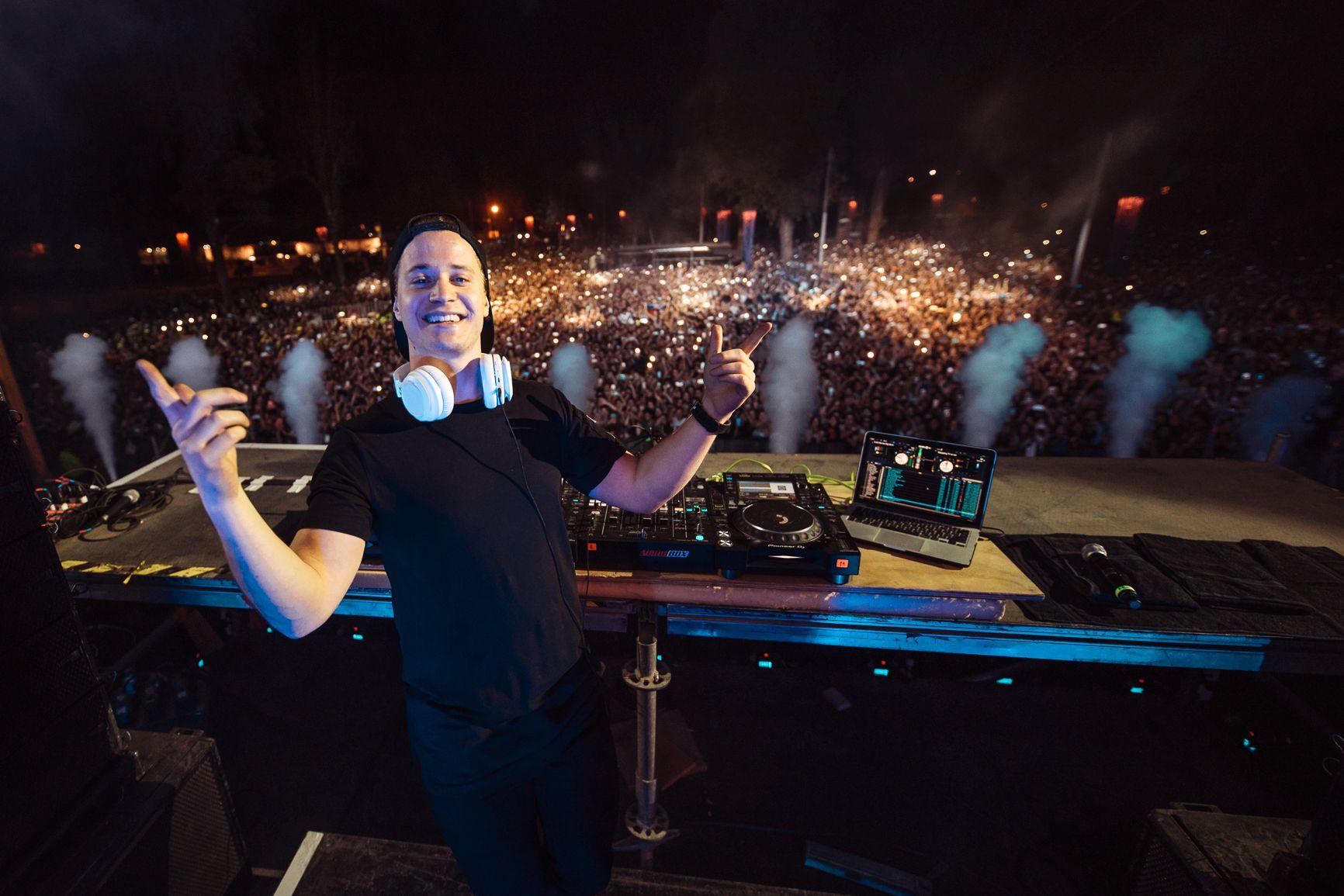 CHILE: Kygo under konserten i Santiago denne uken. Det var 85.000 publikummere på bakken.