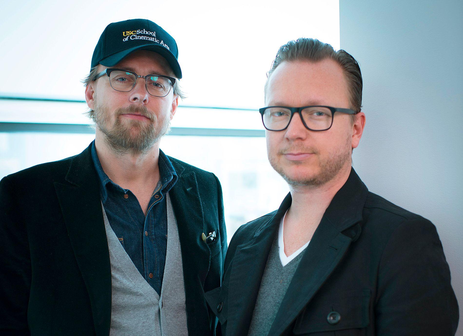 GULLKONTRAKT: Regissørene Espen Sandberg (t.h.) og Joachim Rønning skal regissere neste film ut i Pirates of the Caibbean-serien.