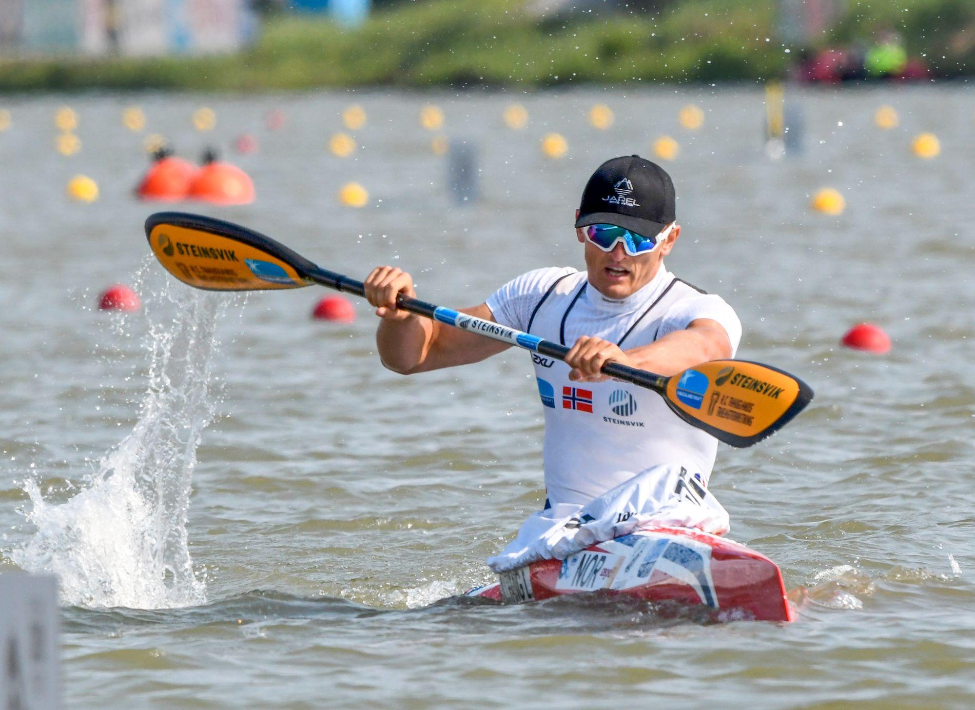 Lars Magne Ullvang tok fjerdeplassen K1 1000 meter under prøve-OL i Tokyo fredag.