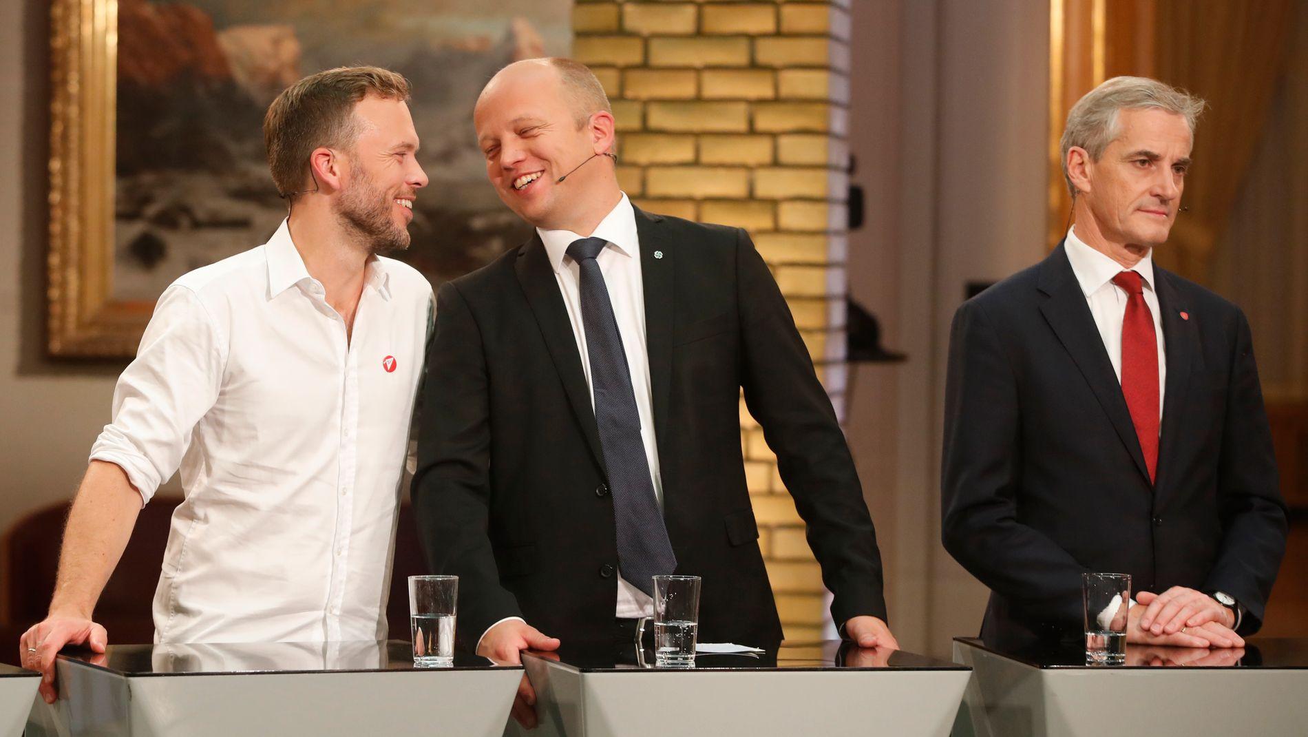 TO AV VALGETS VINNERE: Audun Lysbakken (SV) og Trygve Slagsvold Vedum (Sp) fikk stemmer fra flere tidligere Ap-velgere ved årets valg.