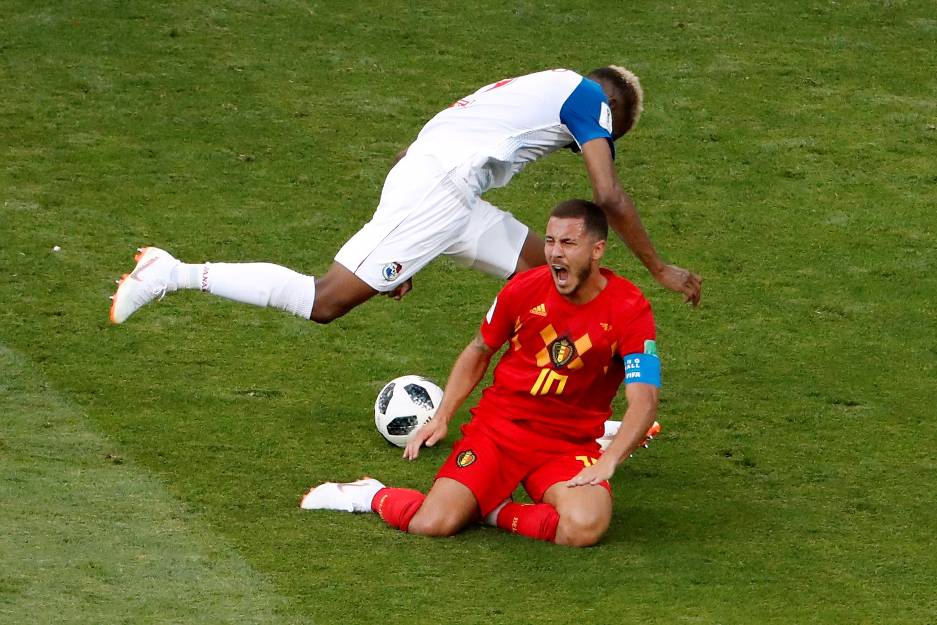 VM-KAMP: Belgias Eden Hazard i kampen mot Panama.