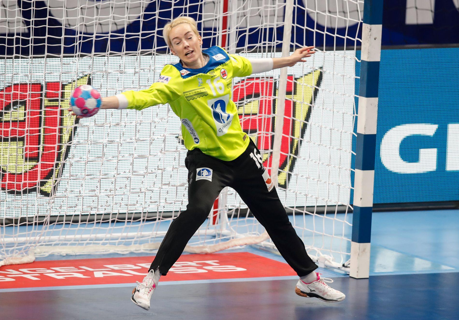 Katrine Lunde sto som en levende vegg mot  Nederland, men slet mer mot Spania.