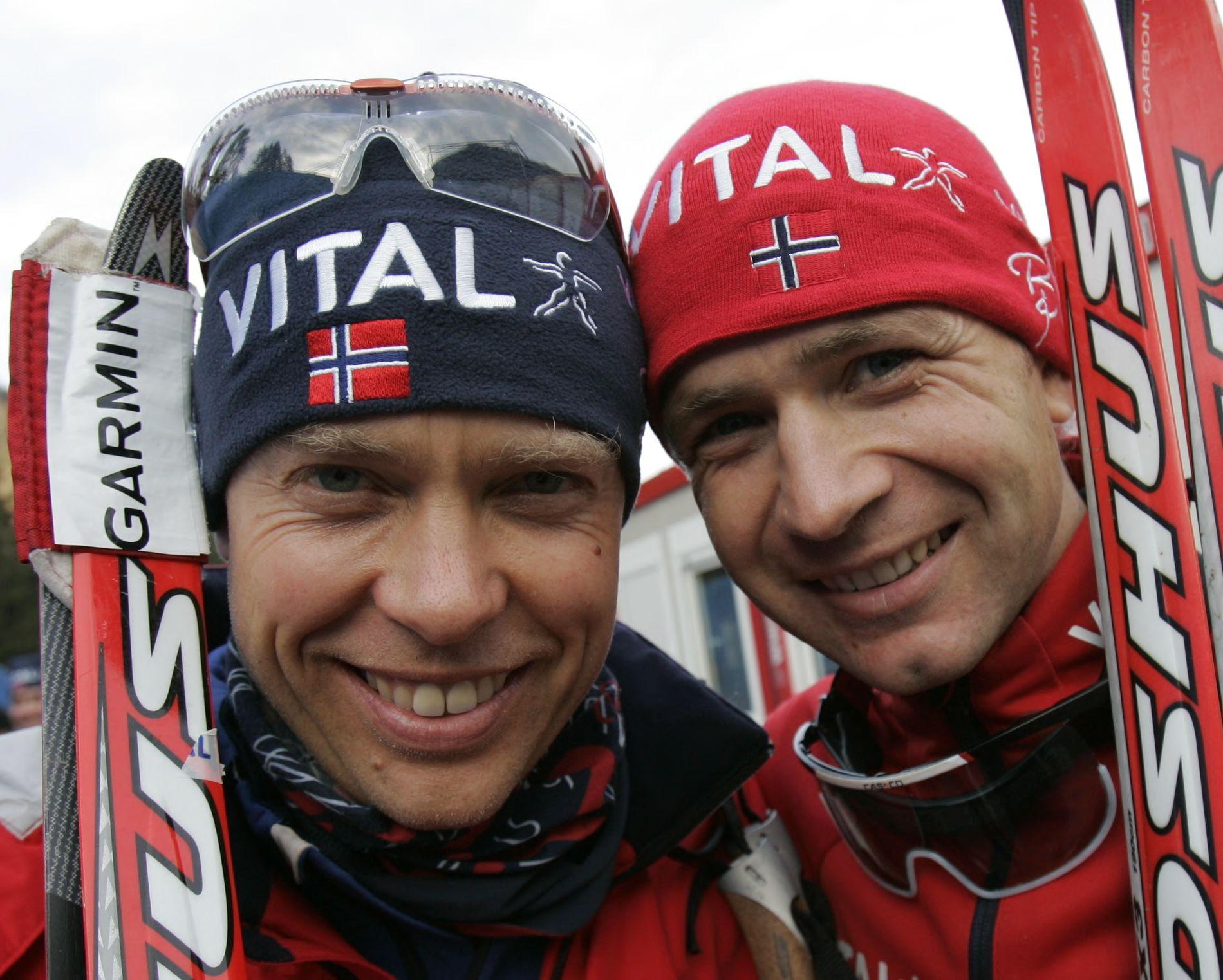 Halvard Hanevold støtter OL-vrakingen av Ole Einar Bjørndalen. Her er de sammen i 2007.