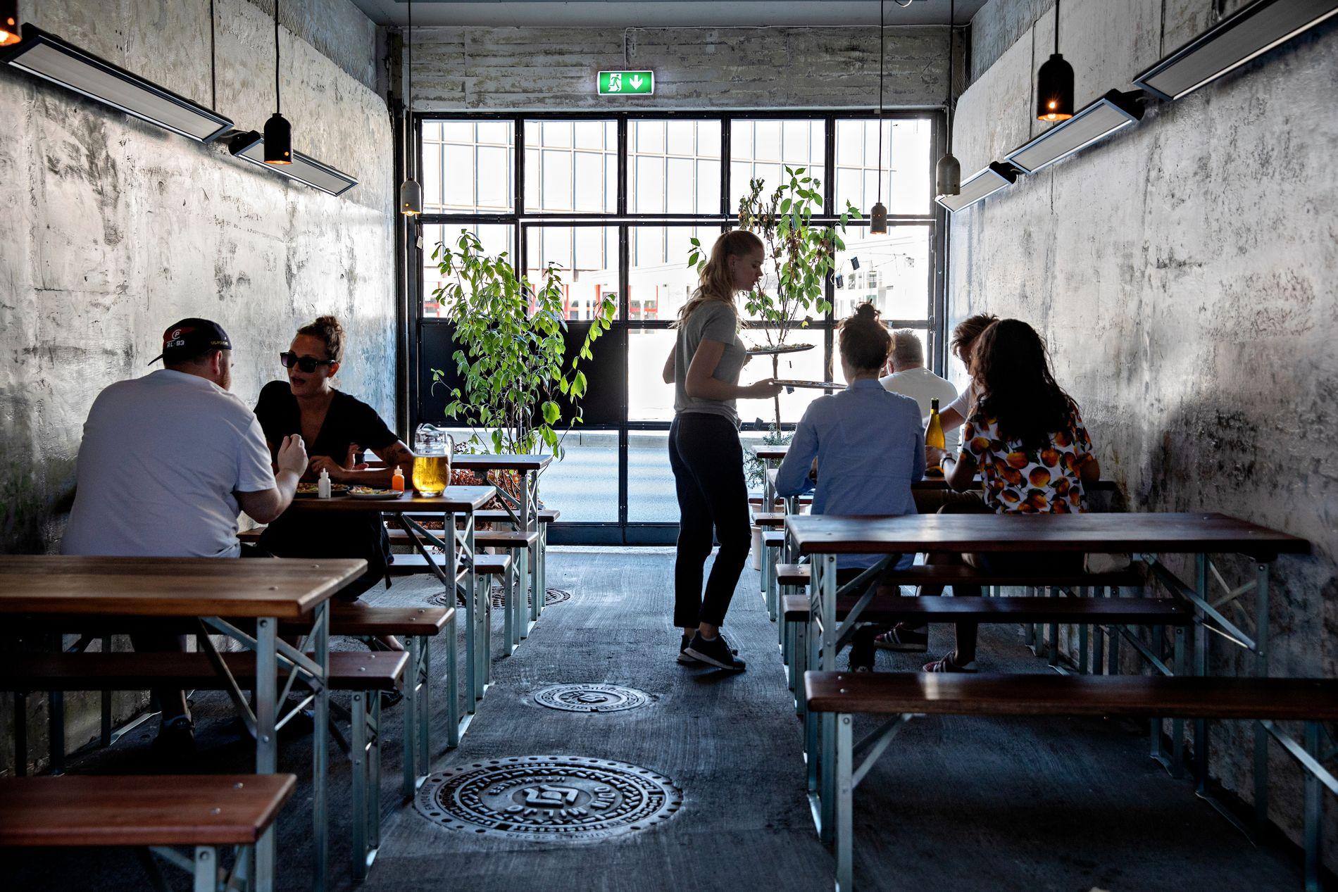 NY RESTAURANT: Pizzarestauranten Hoggorm i Nygårdsgaten har en litt annerledes bakgård.