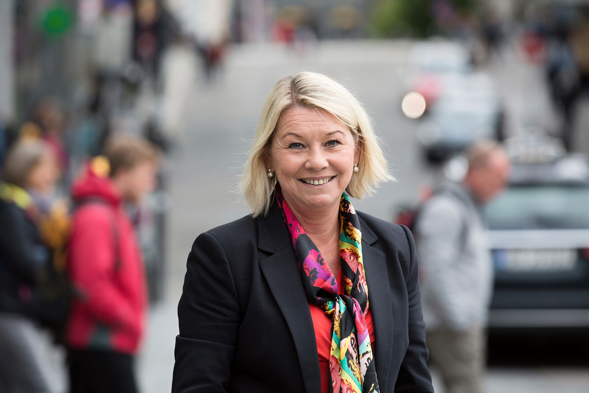 HAR EIN PLAN: Måndag lanserte kommunalminister Monica Mæland (H) og Eid-ordførar Alfred Bjørlo (V) ein ny modell for plassering av statlege arbeidsplassar.