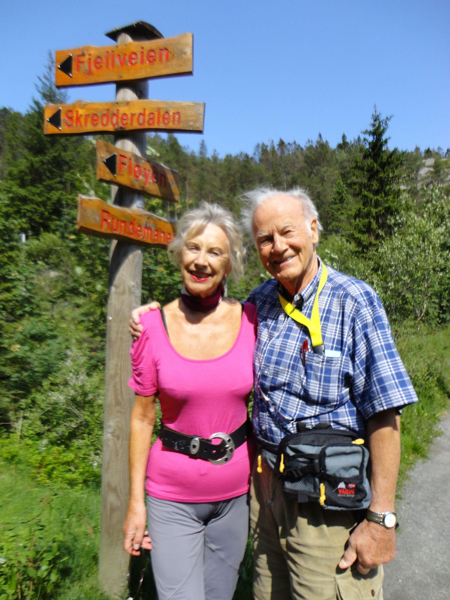 Randi S. og Svein Raaen på Fløyen.
