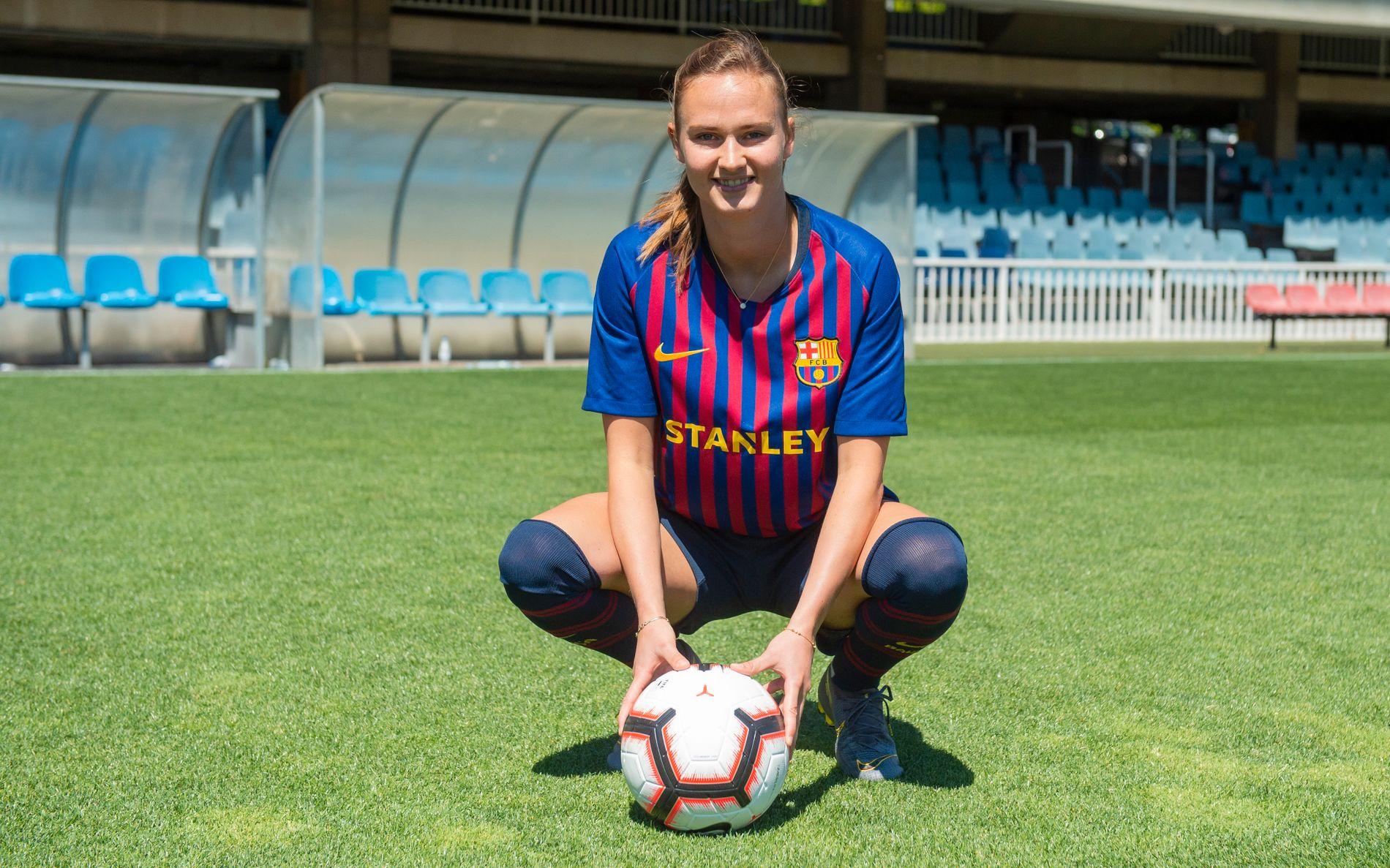 Graham Hansen ser frem til å bære den legendariske Barca-drakten på jobb.