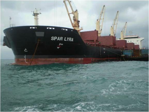 OMSTRIDT HANDEL: Da BT i juli 2015 avslørte en Spar Shipping-transport i Vest-Sahara, sa Spar-direktøren at de skulle ta noen «interne runder» for å konkludere hvor de sto. To år seinere hentet «Spar Lyra» fosfat i Vest-Sahara.