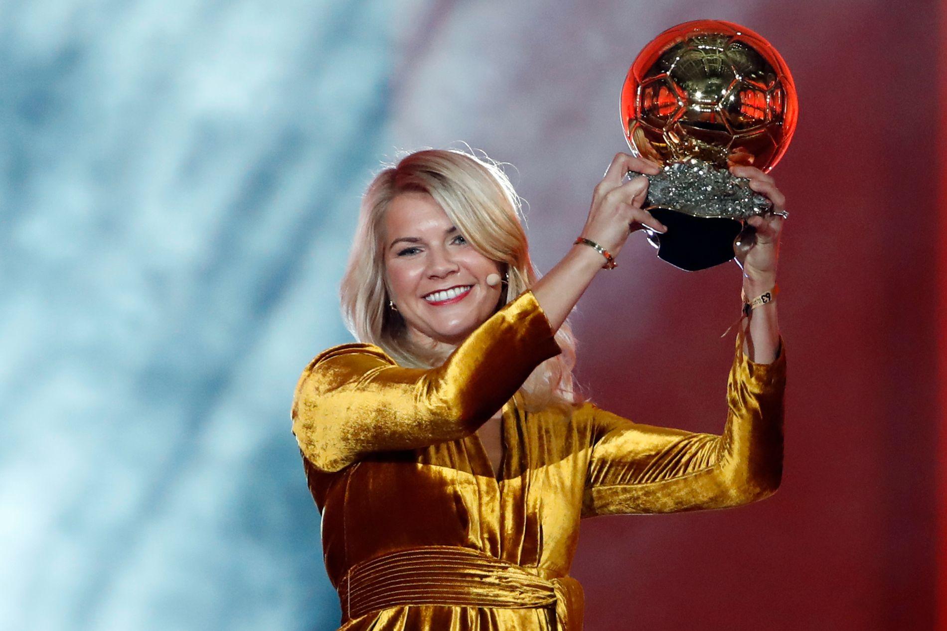 Ada Hegerberg fikk i desember i fjor beviset på at hun er verdens beste kvinnelige fotballspiller.