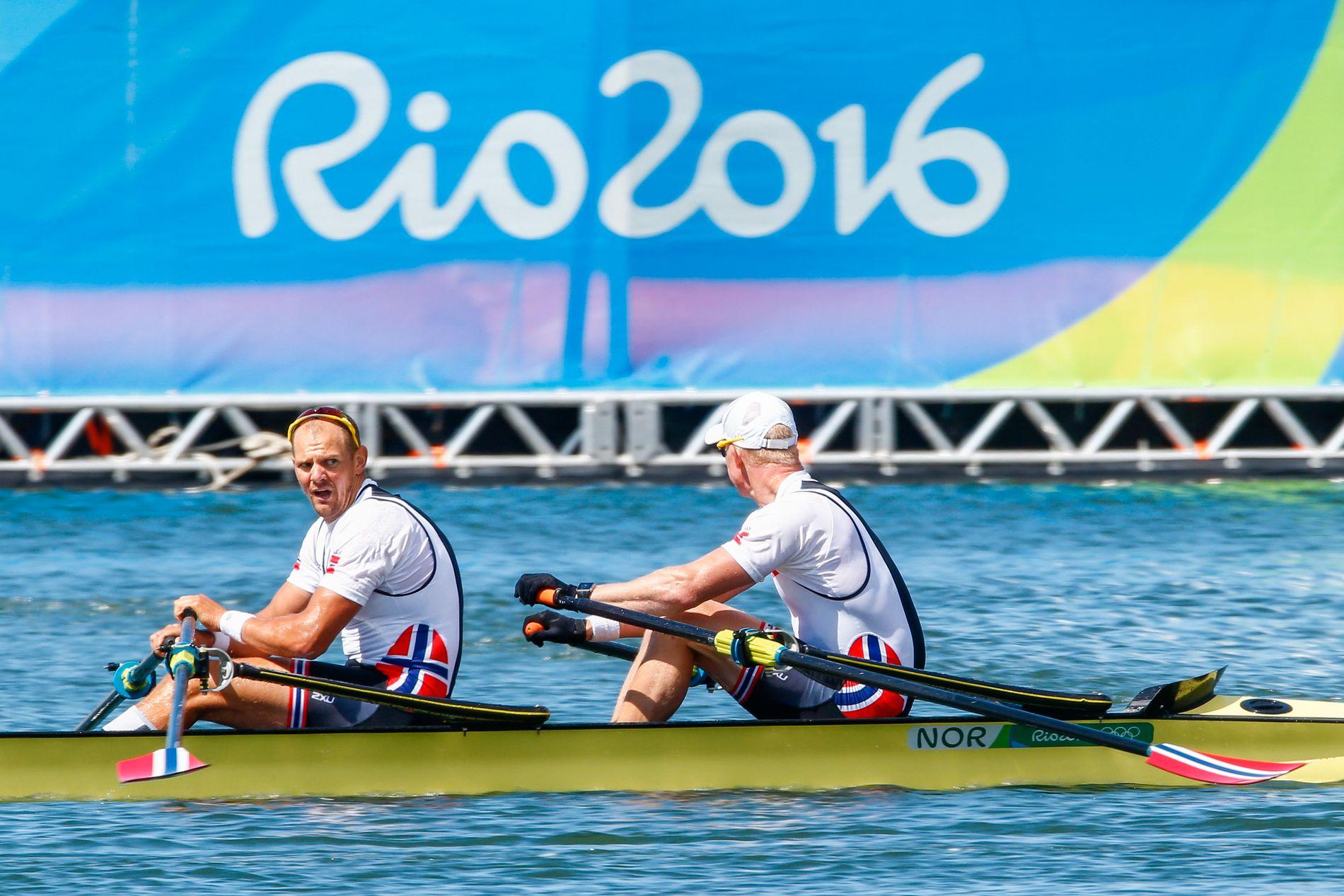 OL-bronse sammen med makker Kjetil Borch i Brasil i 2016. Tufte har tilsammen fire OL-medaljer.