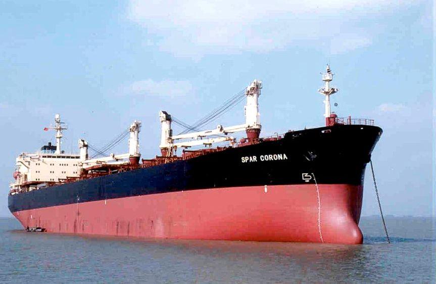 KONTROVERSIELT: Spar Shipping har i en årrekke fått kritikk for handel med okkupert Vest-Sahara. Denne handelen er avsluttet eller i ferd med å bli avsluttet, ifølge innlegget. Bildet viser «Spar Corona», et av rederiets 24 skip.