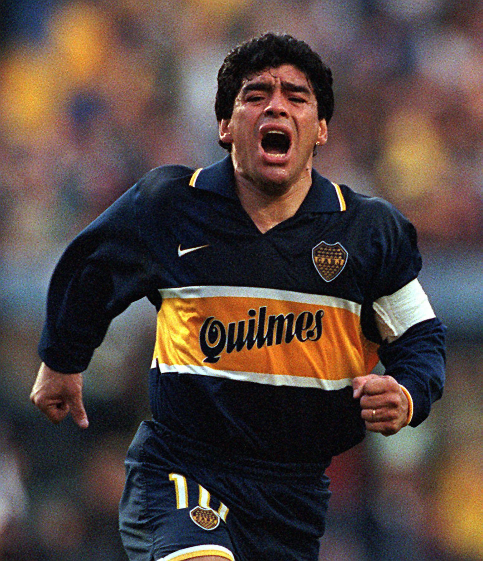 Legenden Diego Maradona hadde to perioder i Boca Juniors; en fra 1981 til 1982 og den siste fra 1995 til 1997.