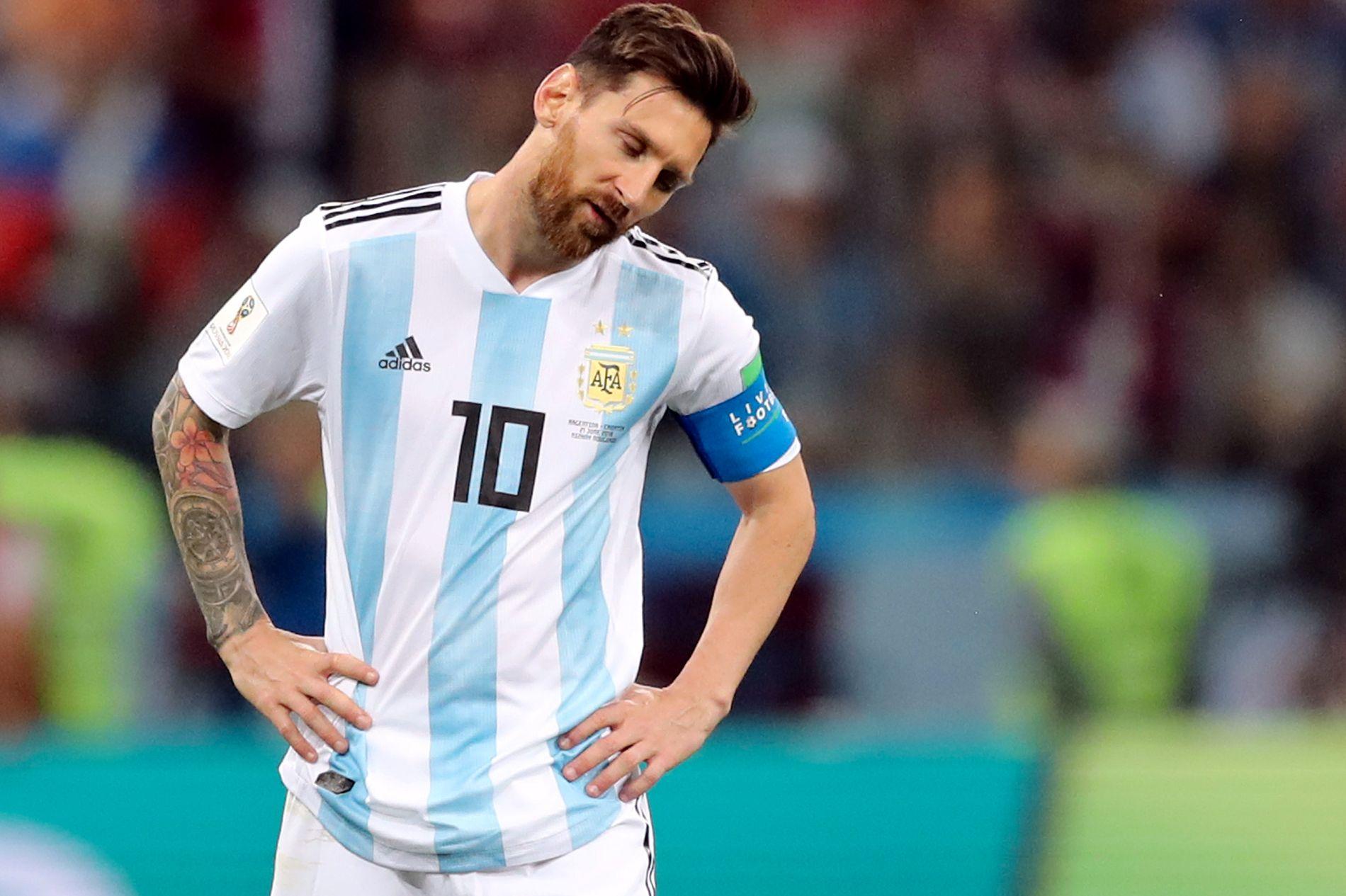 Lionel Messi fikk en nitrist kveld i kampen mot Kroatia.