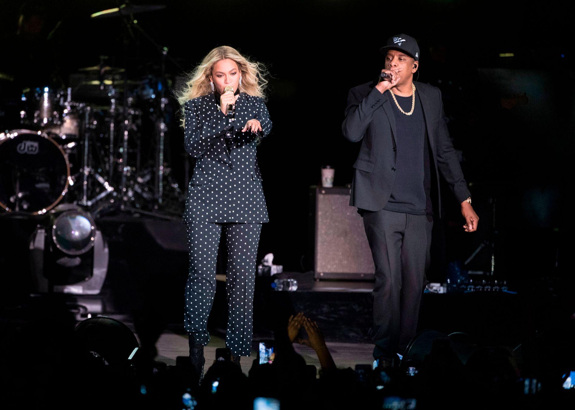 TIDAL-AVSLØRING: Beyoncé og ektemannen Jay Z. Sistnevnte eier strømmeselskapet Tidal og konen er medeier.