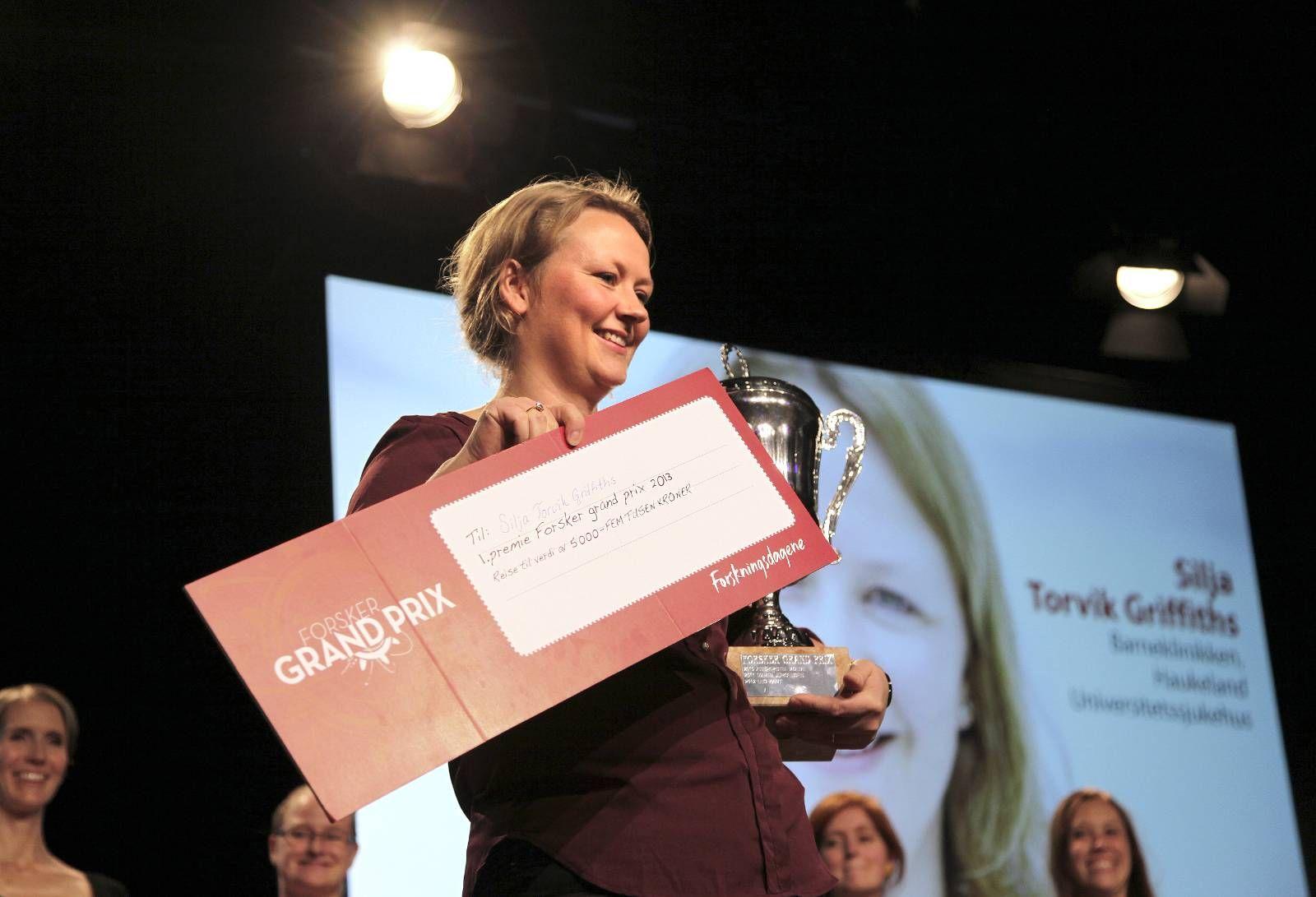 FORSKNINGSDAGENE: Silja Torvik Griffiths (Haukeland Universitetssykehus) viste forskningsformidling på sitt beste da hun vant lørdag Forsker Grand Prix. Norske forskere har generelt mye å lære.