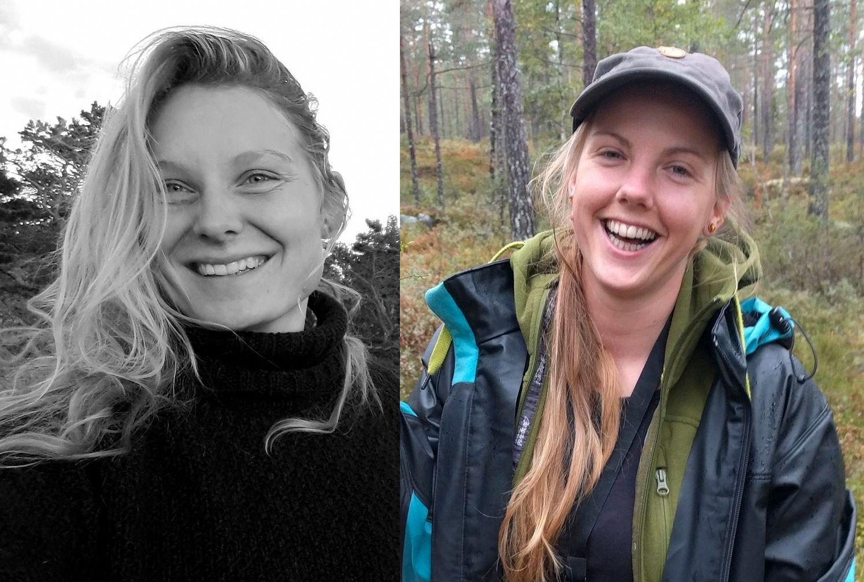 DREPT: Danske Louise Vesterager Jespersen (til v.) og norske Maren Ueland, begge studenter ved universitetet i Bø i Telemark, ble funnet drept i Marokko mandag.