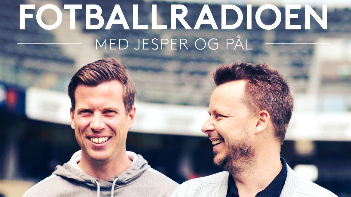 Jesper Mathisen (t.v) og Pål Wollebæk Jørgensen har podcasten Fotballradioen.