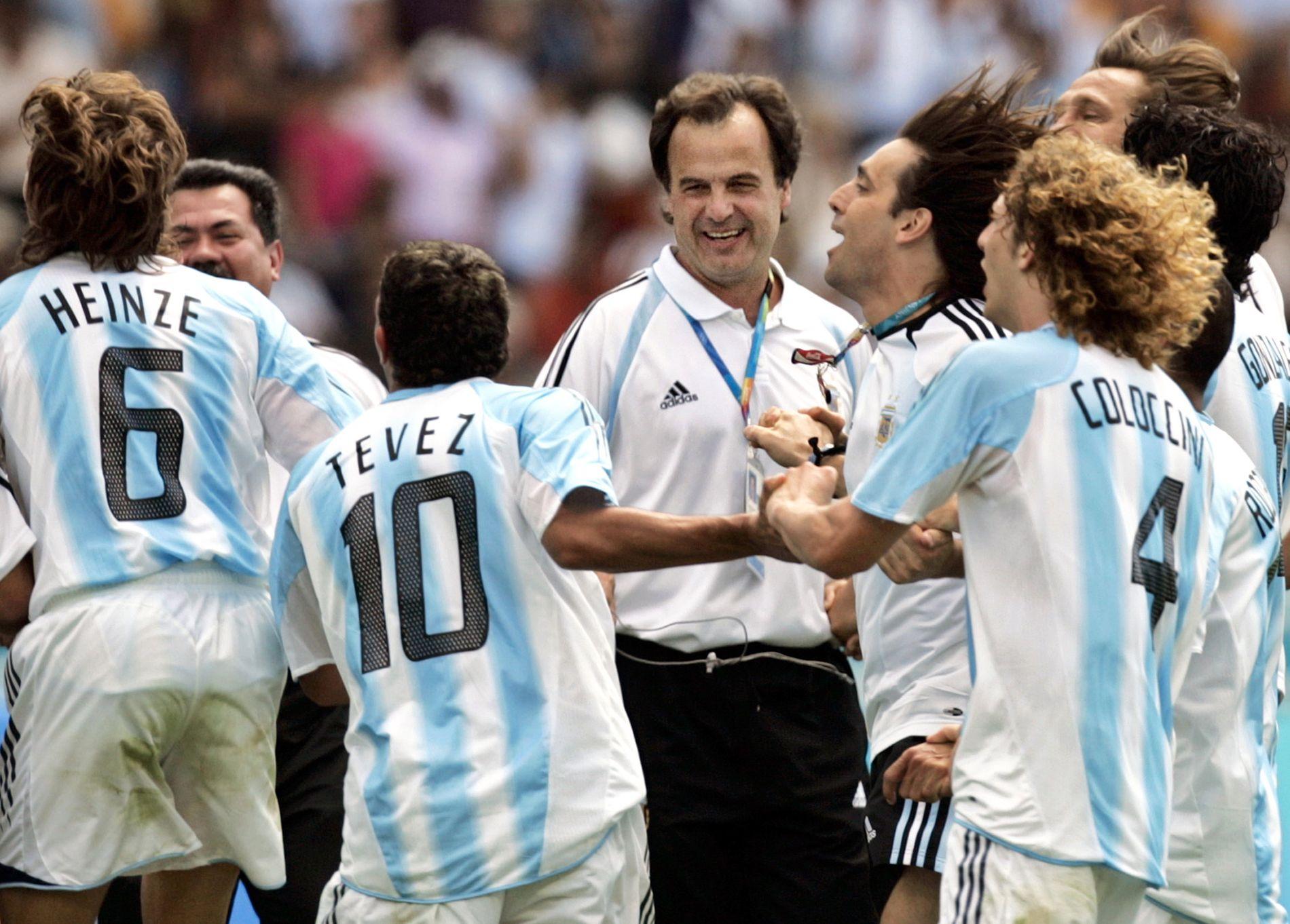 Marcelo Bielsa ledet Argentina til OL-gull i 2004.