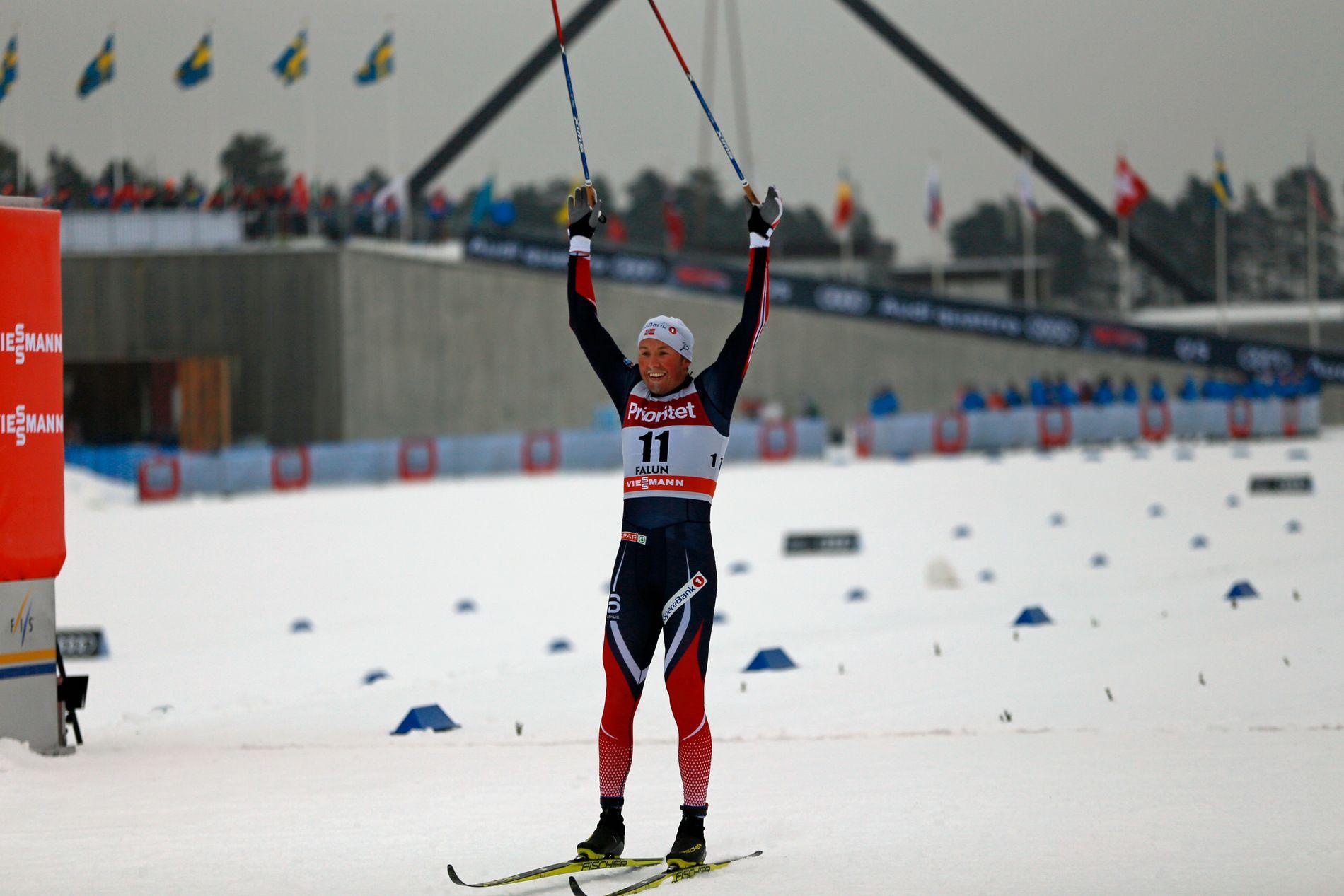 KNALLSTERK: Emil Iversen tok en imponerende seier på tremila i Falun. Han blir et av Norges aller sterkeste kort under VM, som starter i Lahti om en liten måned.