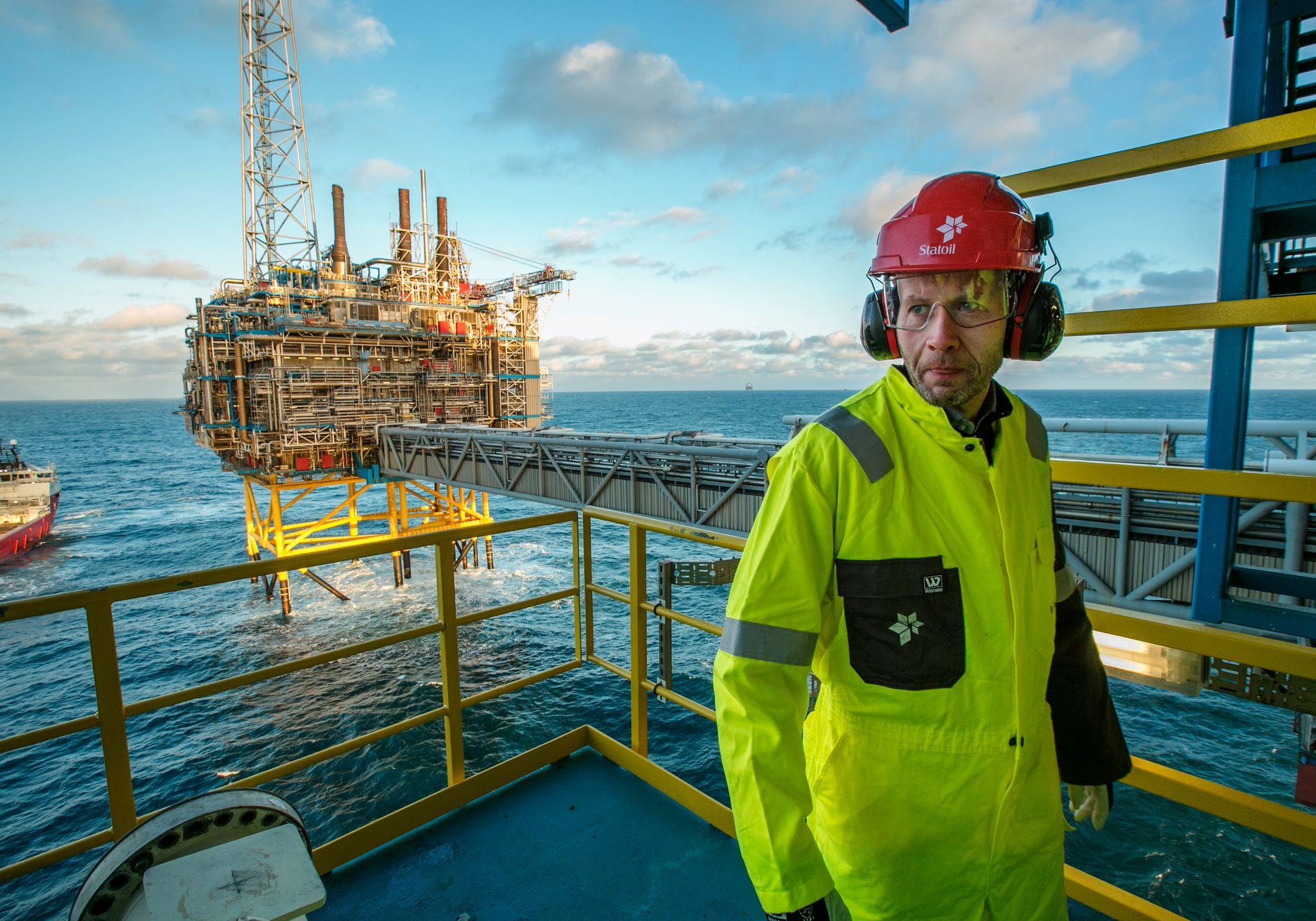 AMBASSADØR: Tidlegare olje- og energiminister Tord Lien (Frp) kjempa mot ENØK-tiltak i EU og for norsk gass, utan særleg hell. Her frå Sleipner-feltet i 2016.