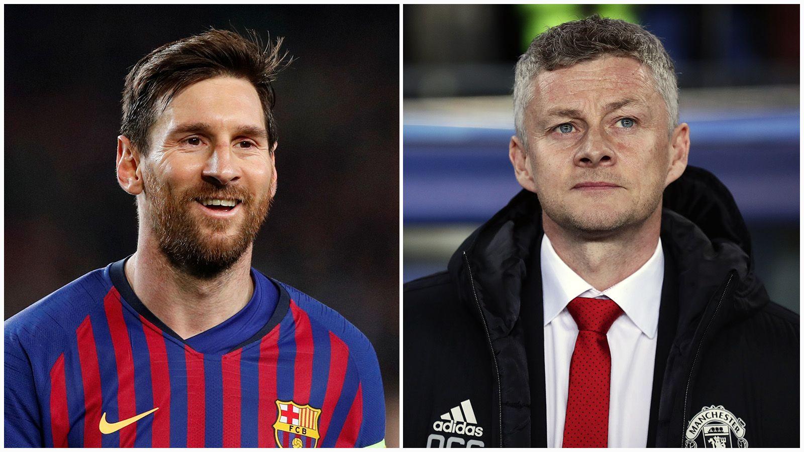 Lionel Messi ble for god for Solskjærs Manchester United.
