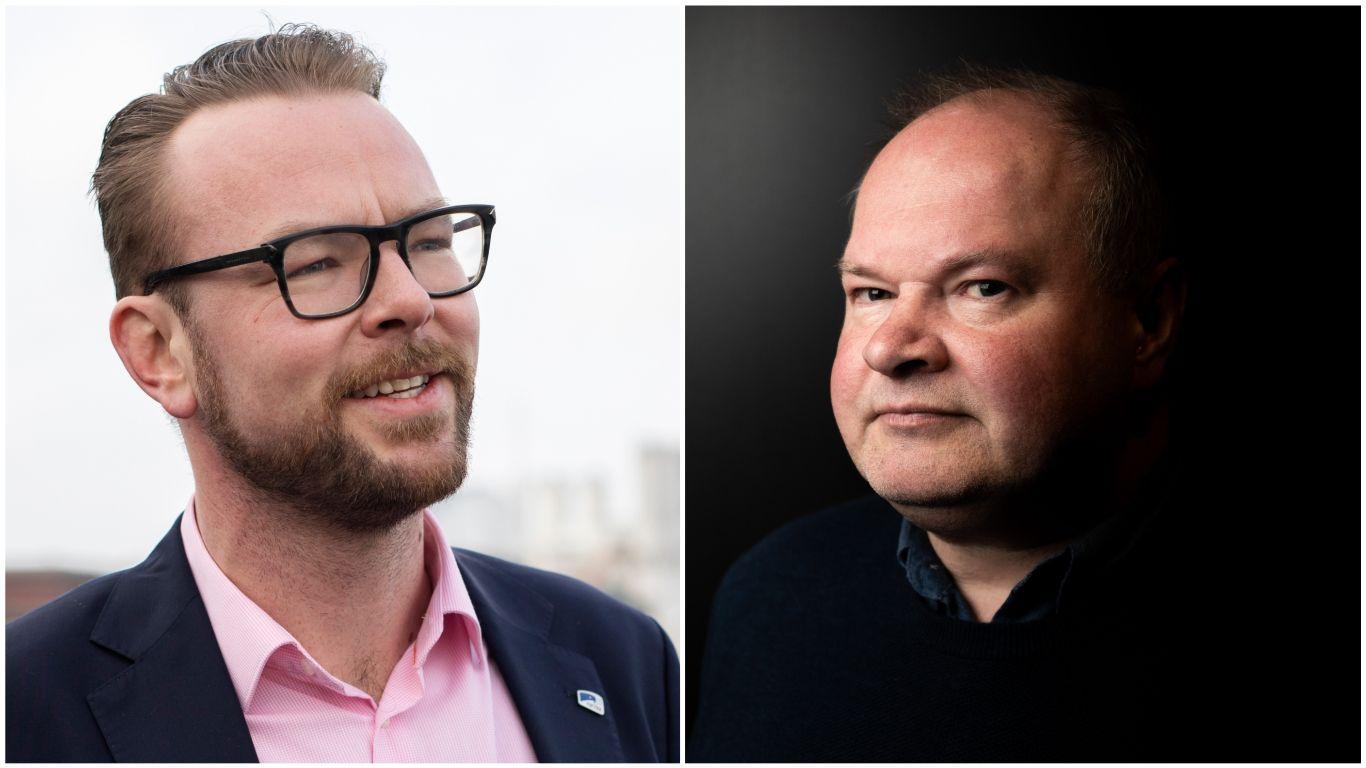 DUO: Høyres Harald Victor Hove og bompengepartiets Trym Aafløy kan måtte styre byen sammen etter valget.