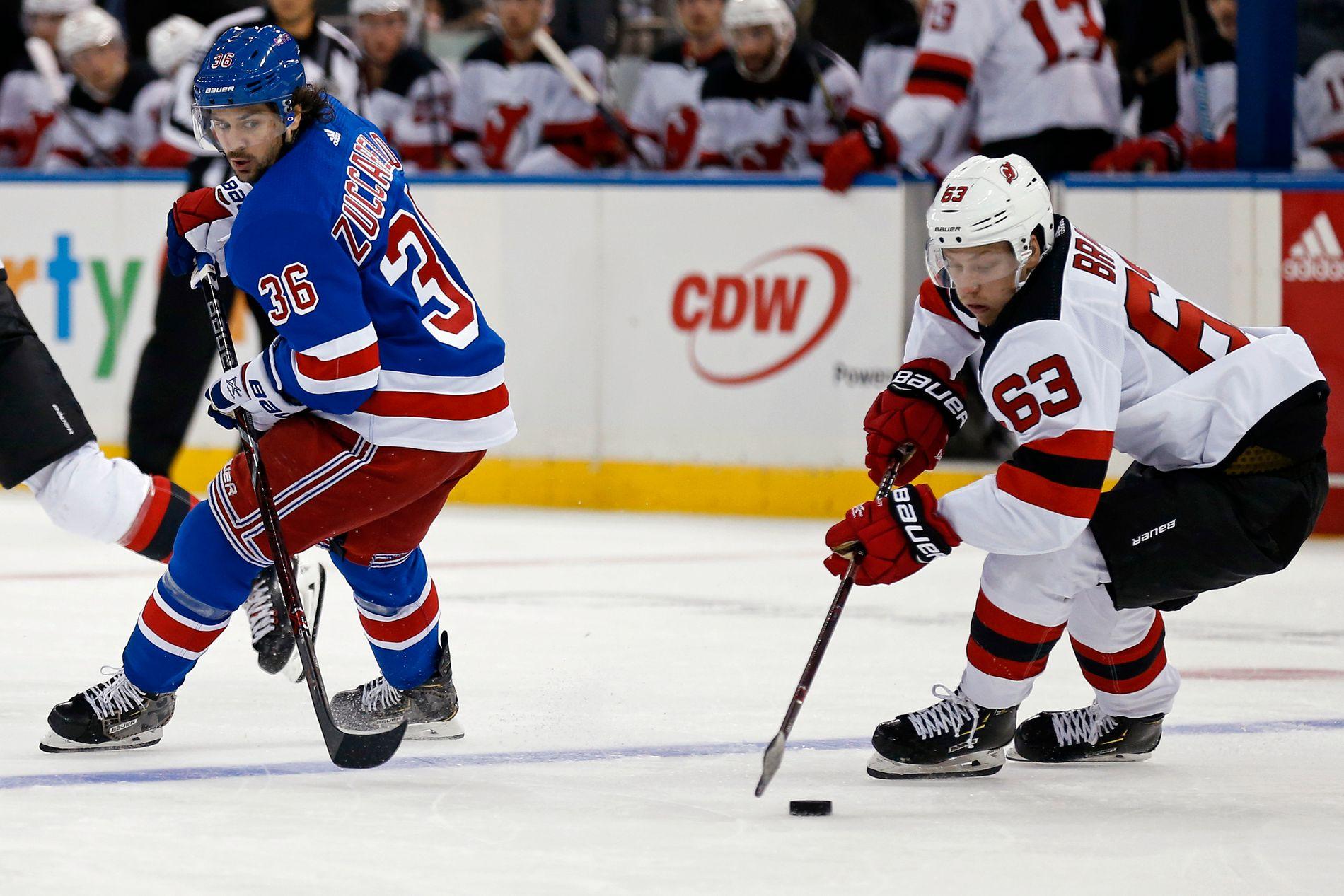 Tre av tre tap. Mats Zuccarello og New York Rangers har fått en nitrist start på sesongen.