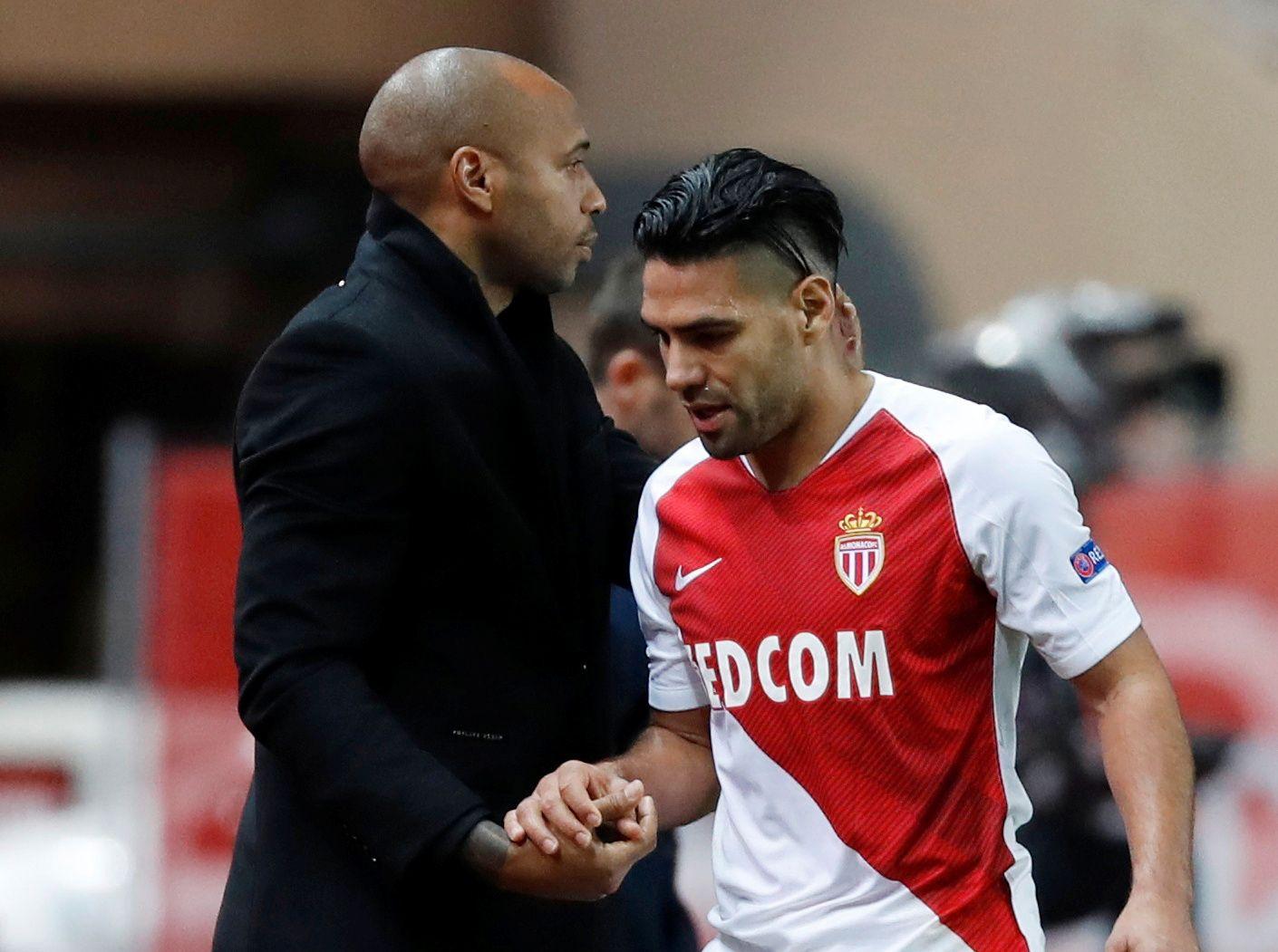 Henry sammen med en av klubbens største stjerner, den colombianske spissen Radamel Falcao.