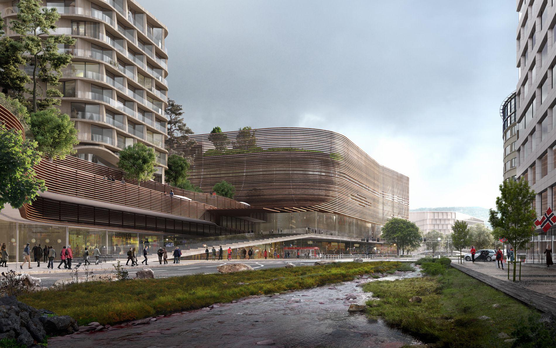 BYARENA: Slik ønsker Olav Thon og co. å transformere Nygårdstangen til en ny og moderne bydel.