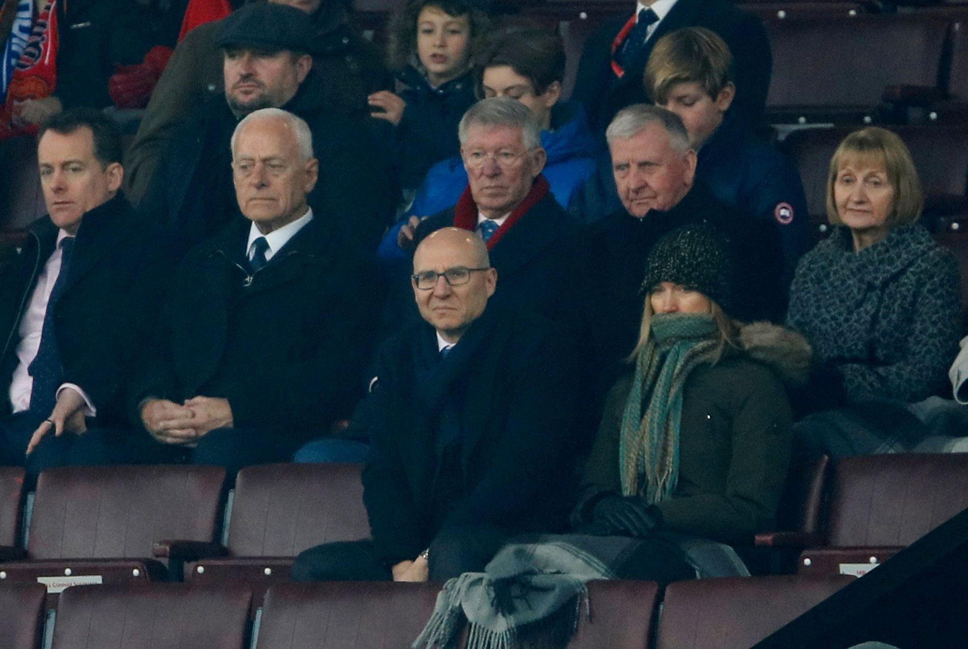 Sir Alex Ferguson var som vanlig på plass på Old Trafford.