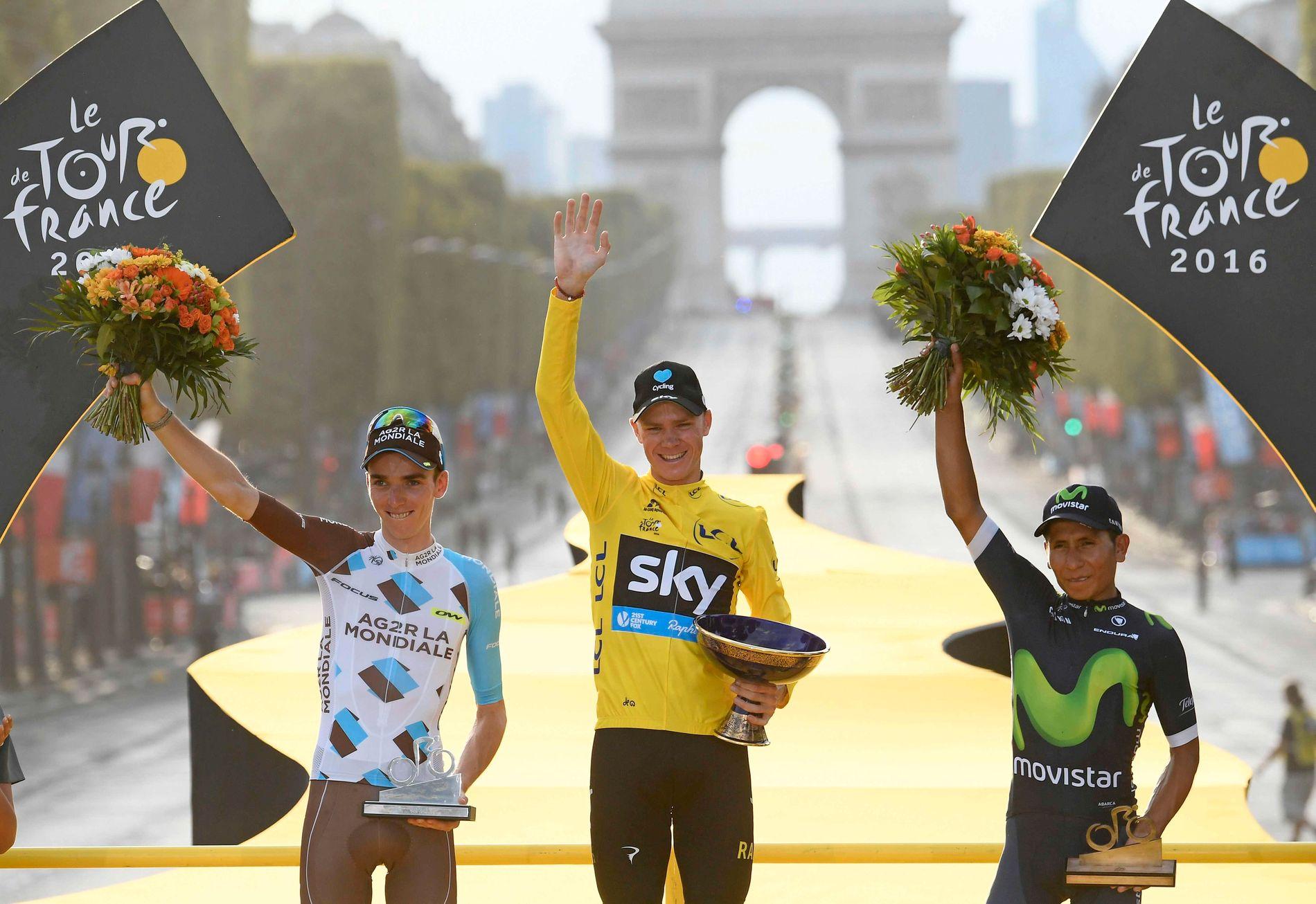 Romain Bardet (t.v.) endte som nummer to i Tour de France i 2014.