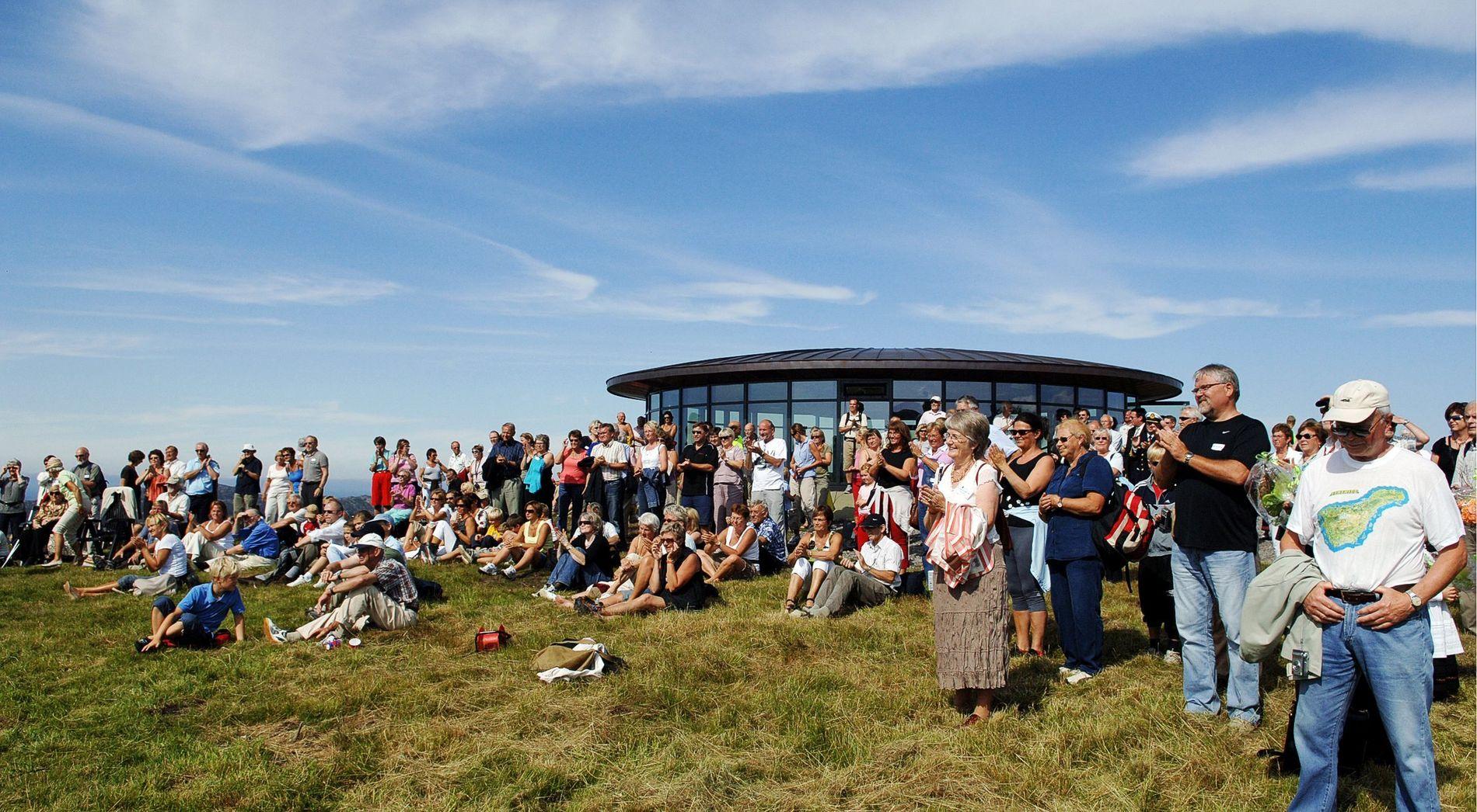 DRØMMEDAG: Toppen av Fjell Festning på en solsknssdag.