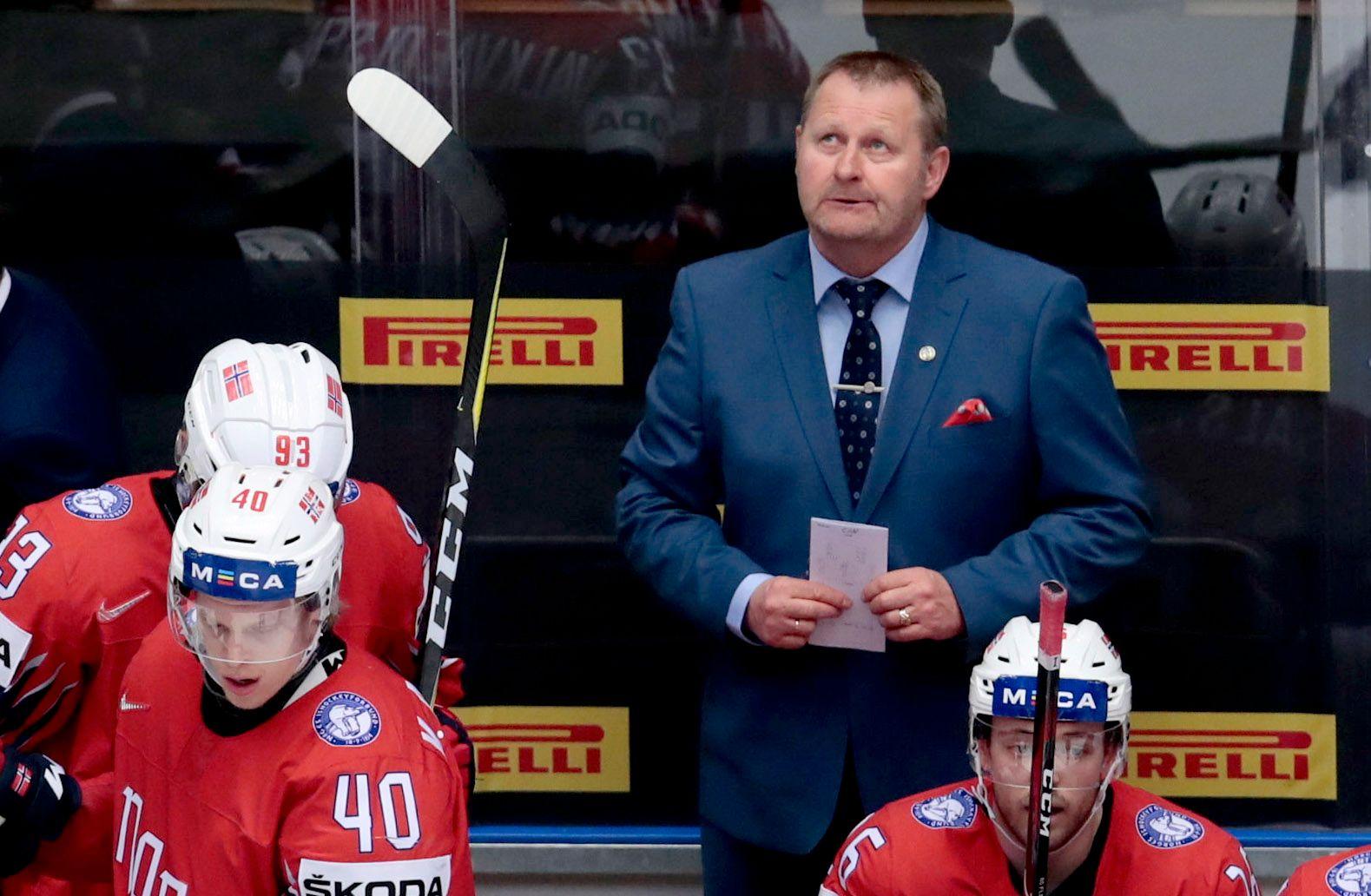 Trener Petter Thoresen og hans mannskap fikk det tøft mot Canada.